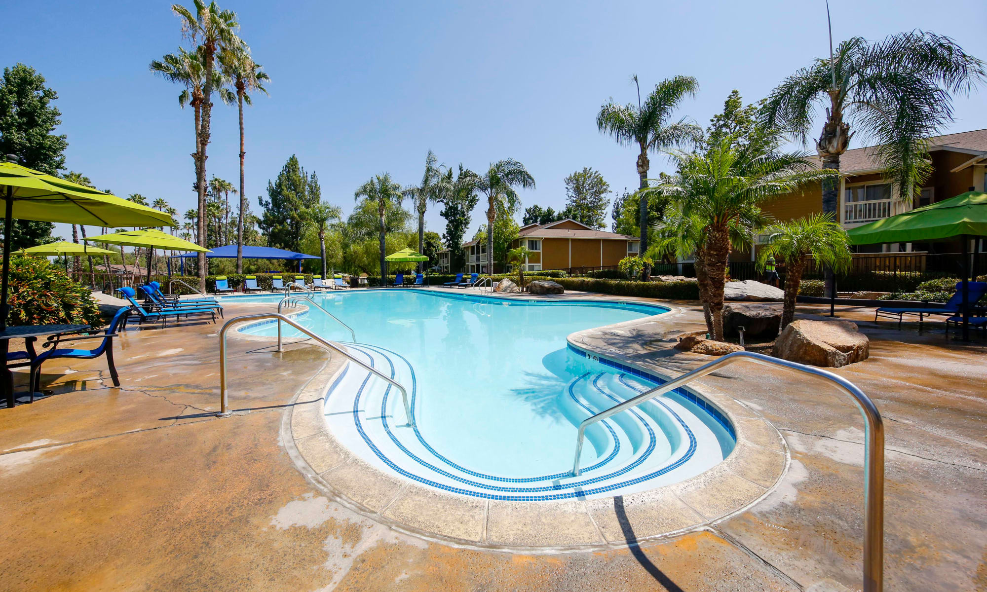 Resort-style swimming pool at Redlands Lawn and Tennis Club