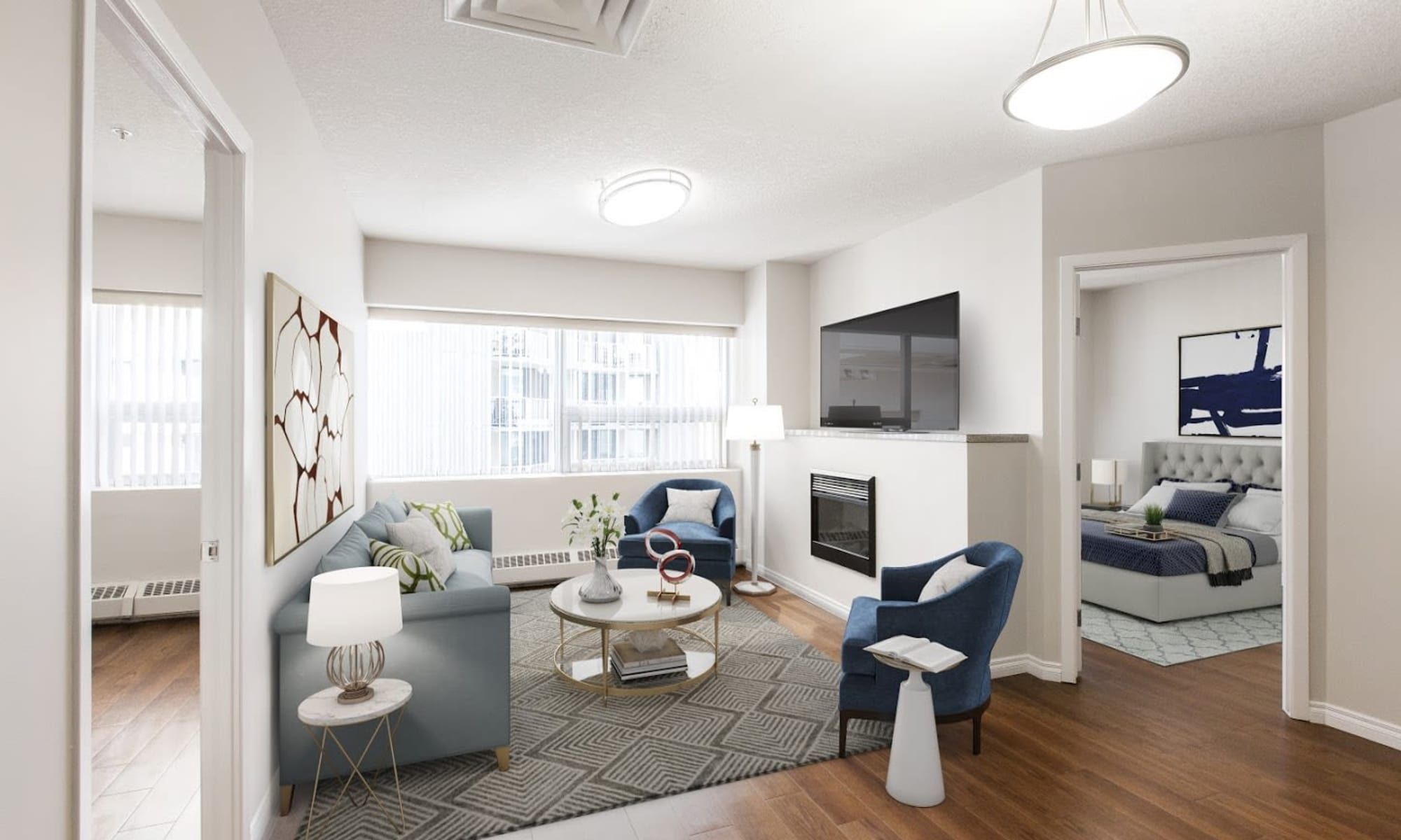 Modern living room at Park Square