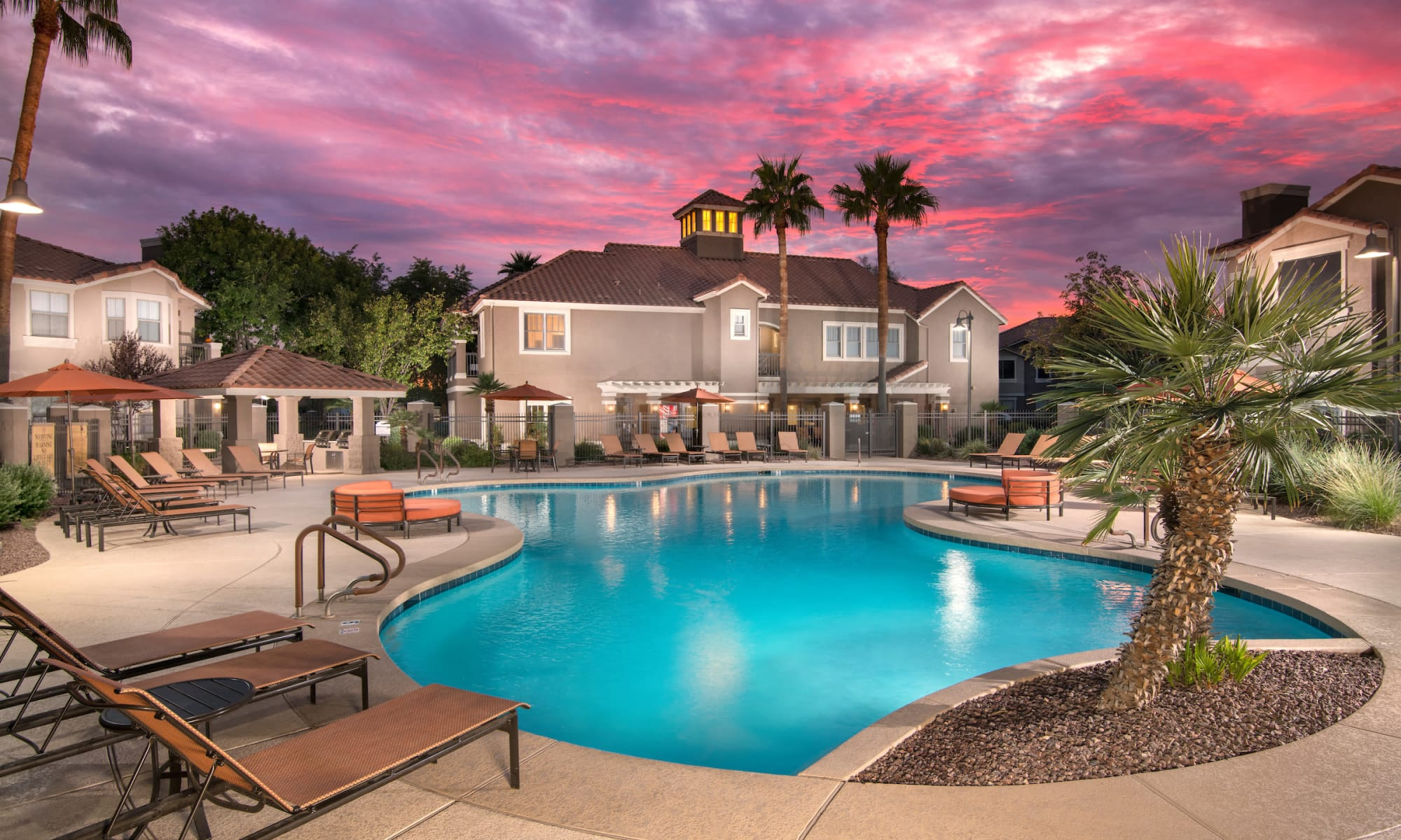 Swimming pool at Villas on Hampton Avenue in Mesa, Arizona