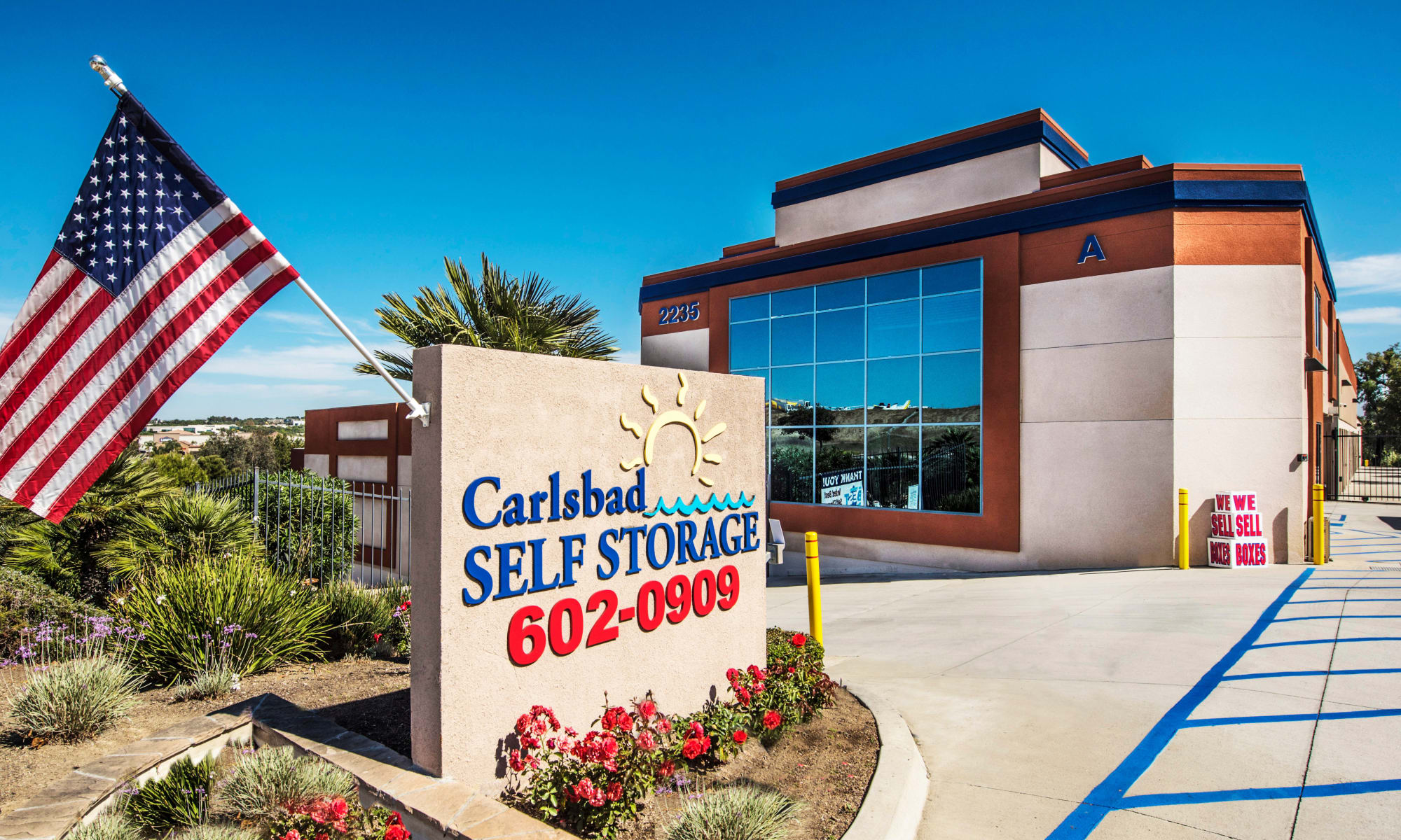 Self storage hero for Carlsbad