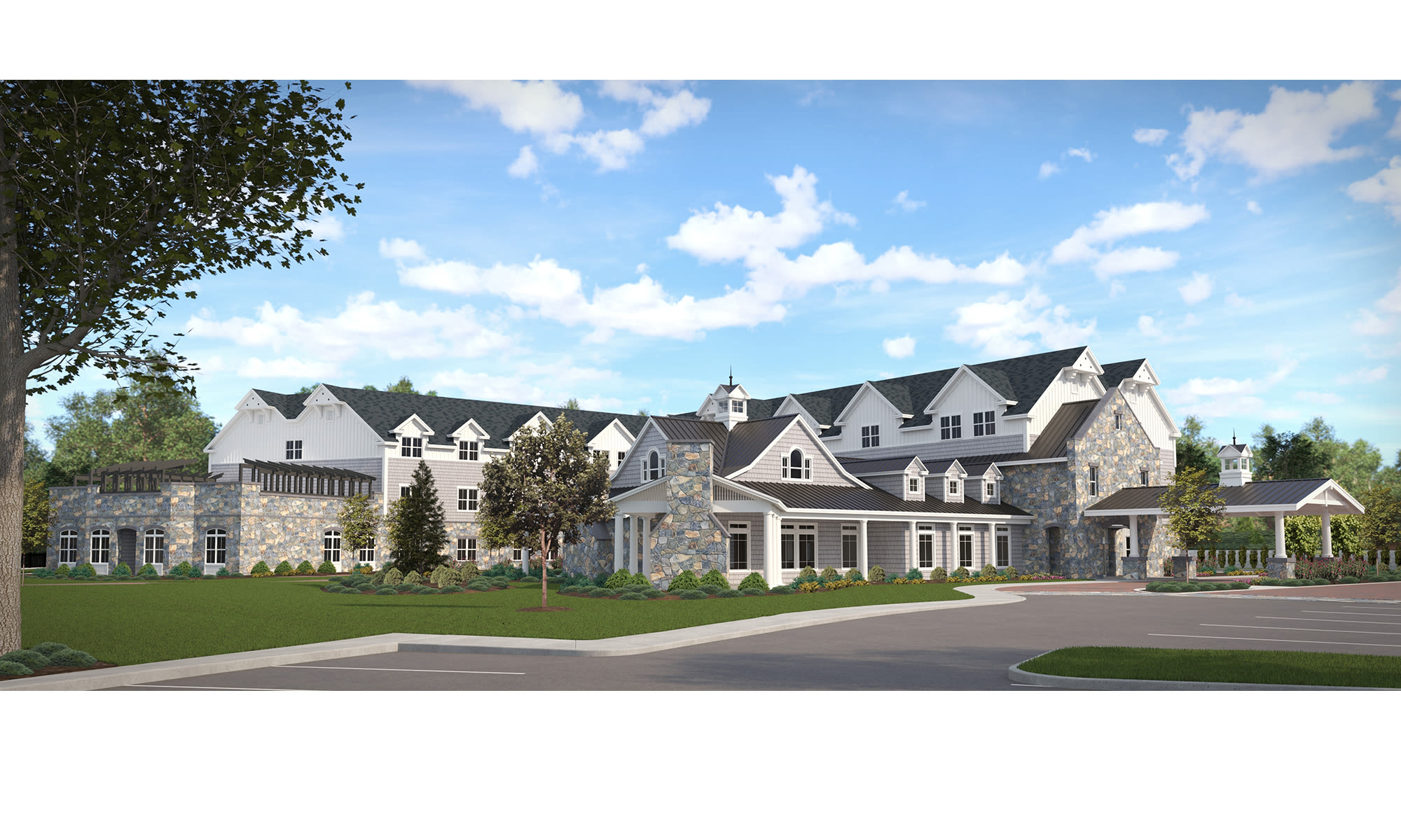 Senior living at Maplewood at Southport in Southport, CT