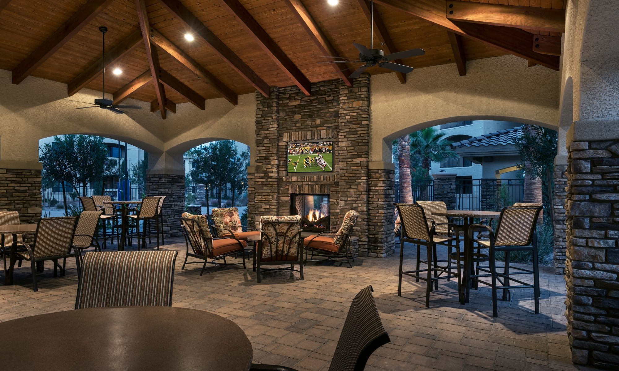 Luxury clubhouse at San Travesia in Scottsdale, Arizona