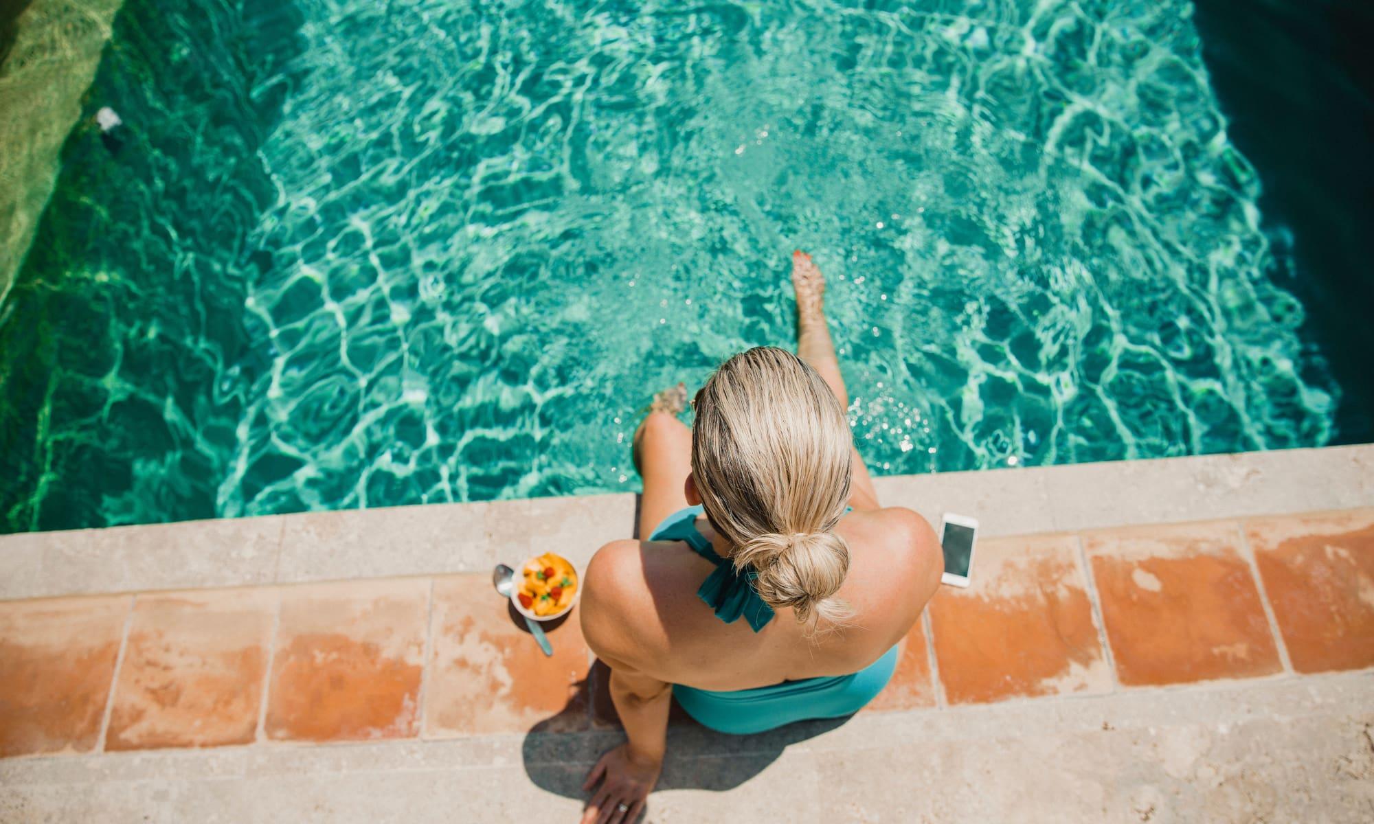 Sparkling pool at Avilla Meadows in Surprise, Arizona