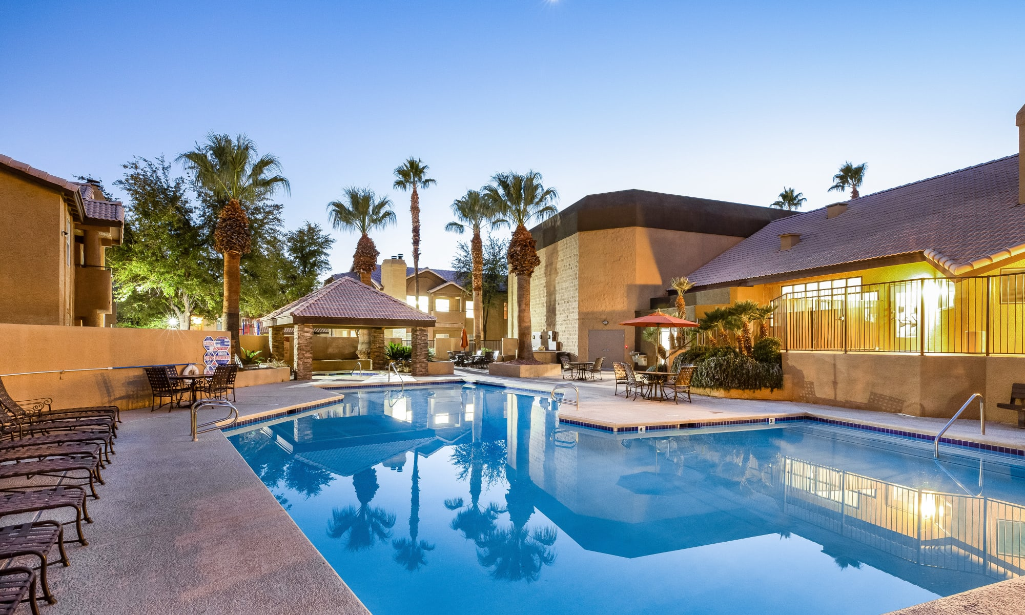 Swimming pool to relax in at Village at Desert Lakes in Las Vegas, NV