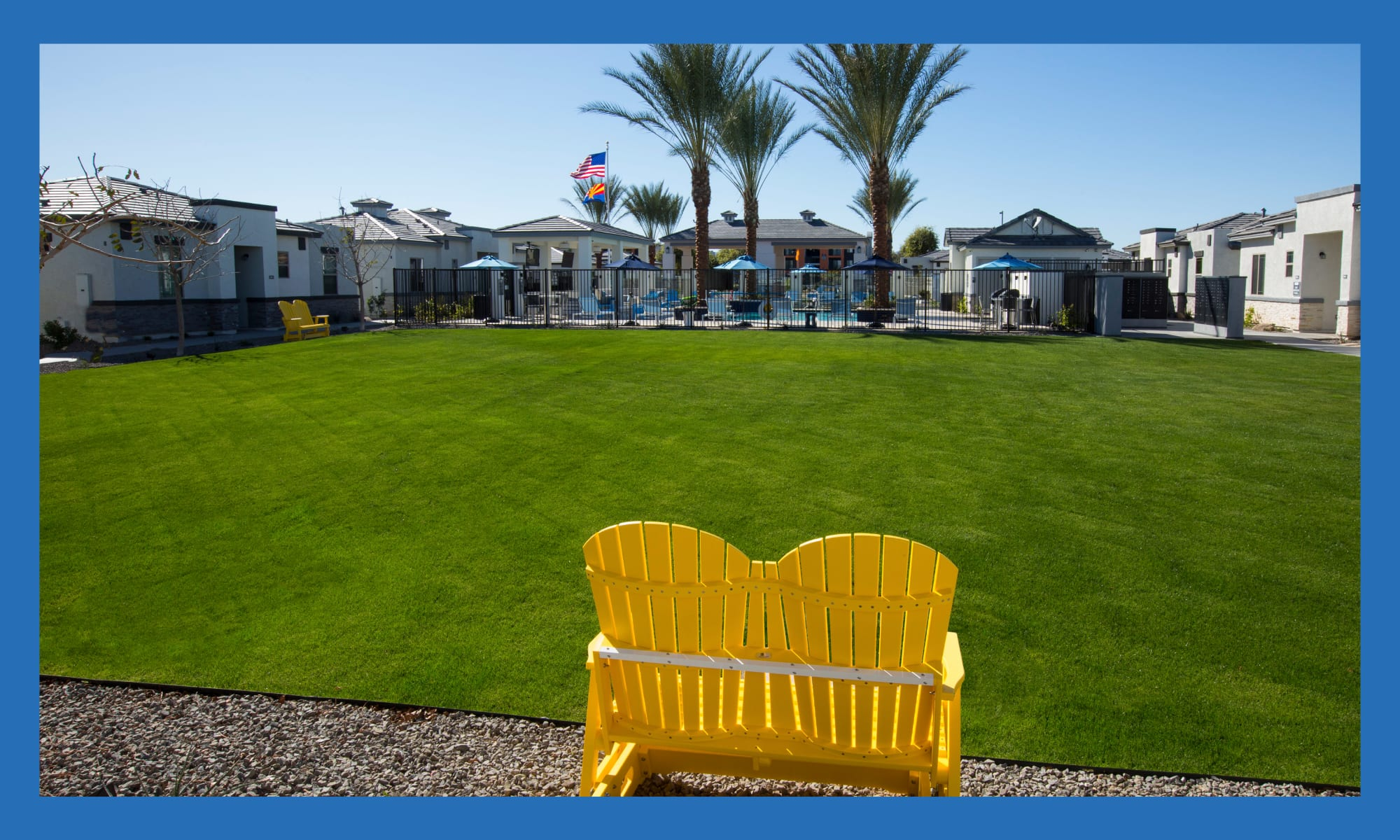 Beautifully maintained lawn at Christopher Todd Communities At Marley Park in Surprise, Arizona