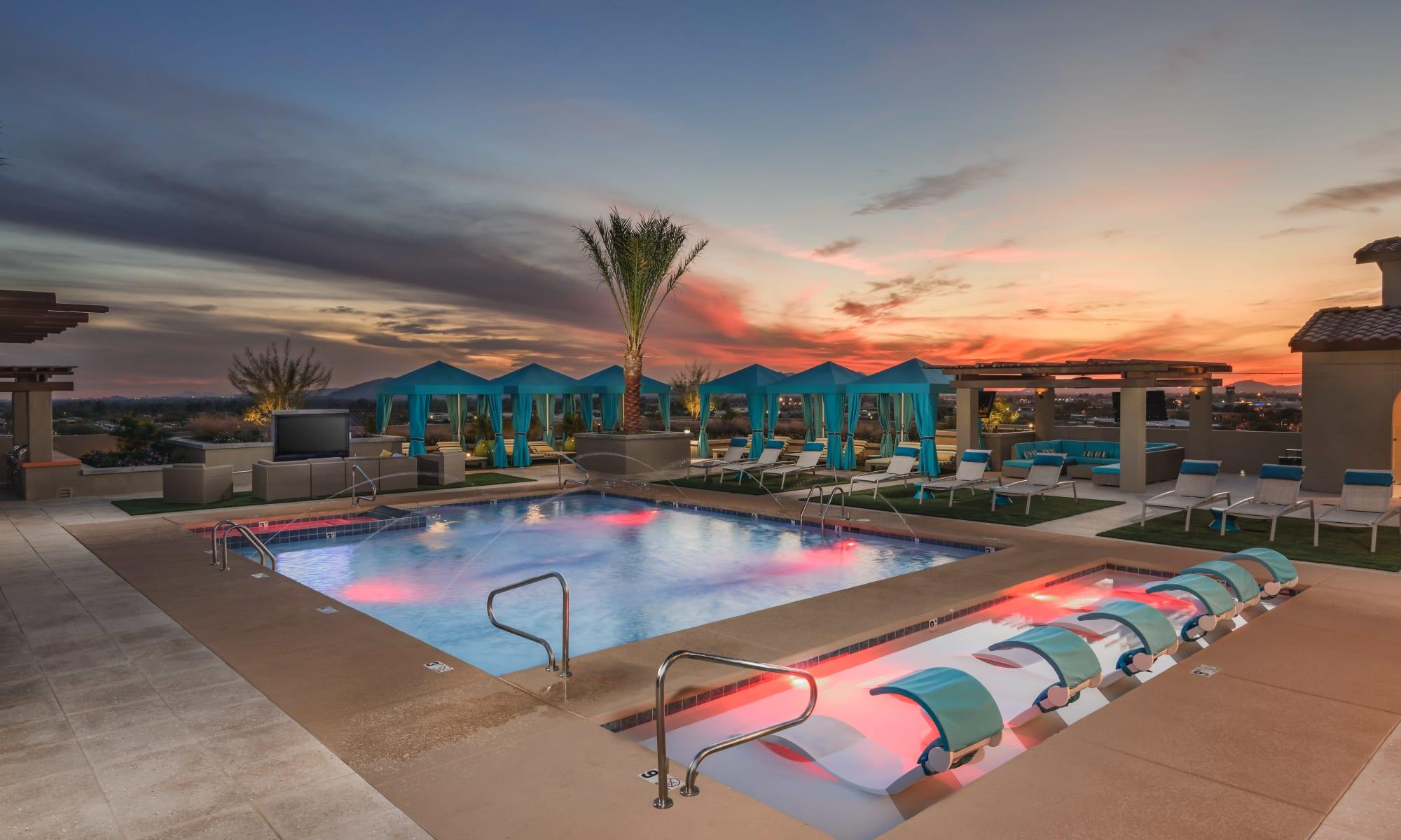 Scottsdale, Arizona, apartments at The Core Scottsdale