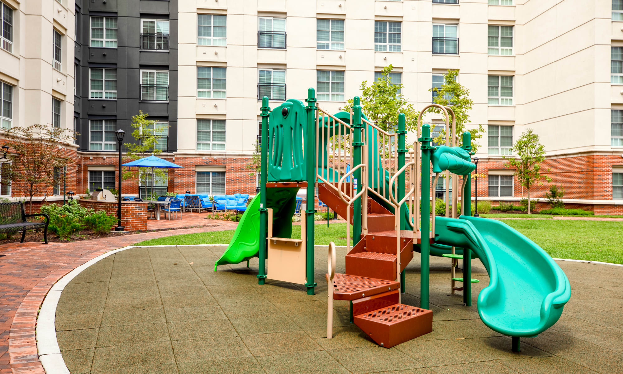 Playground at The Harper at Harmon Meadow in Secaucus, New Jersey