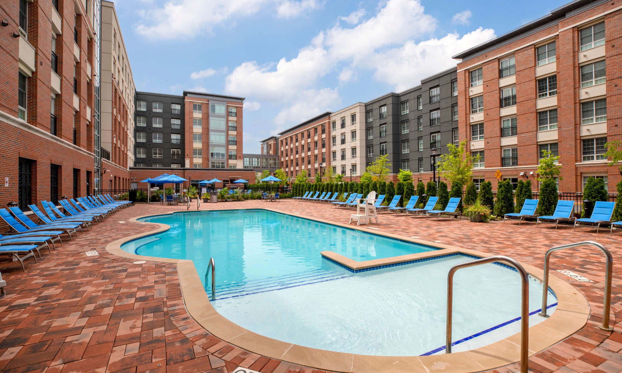 Swimming Pool at Apartments in Secaucus, New Jersey
