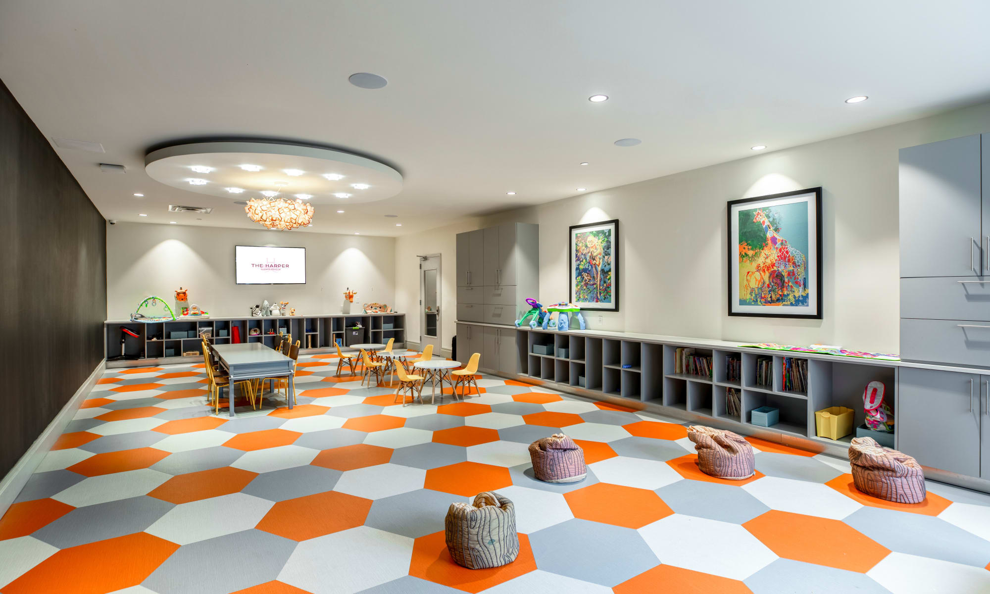 Playroom at The Harper at Harmon Meadow in Secaucus, New Jersey