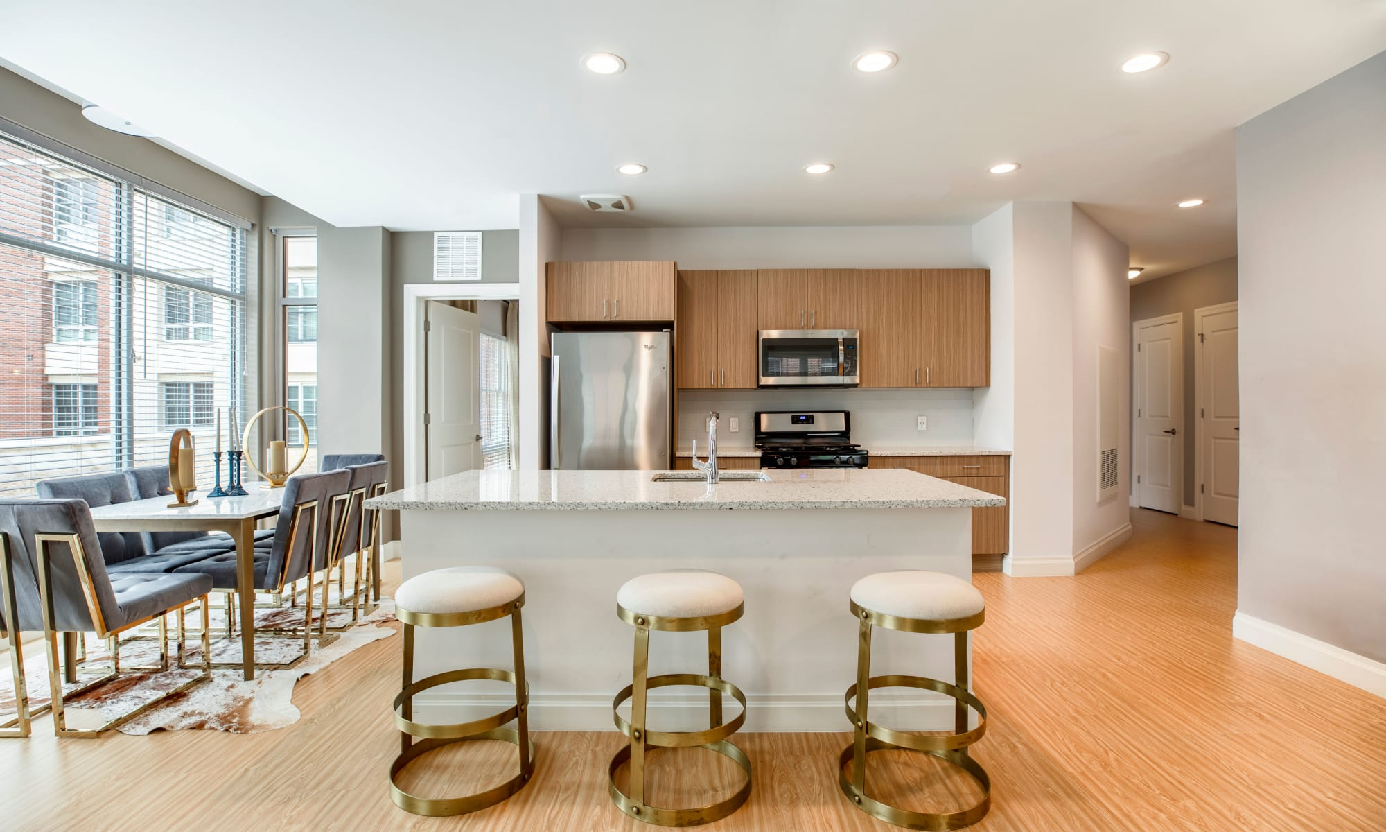 Kitchen at The Harper at Harmon Meadow in Secaucus, New Jersey