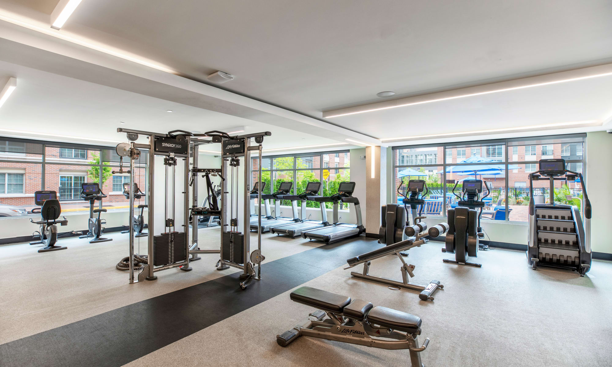 Fitness Center at The Harper at Harmon Meadow in Secaucus, New Jersey