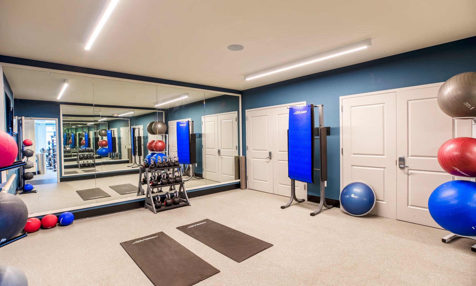 The Harper at Harmon Meadow offers a Fitness Center in Secaucus, New Jersey