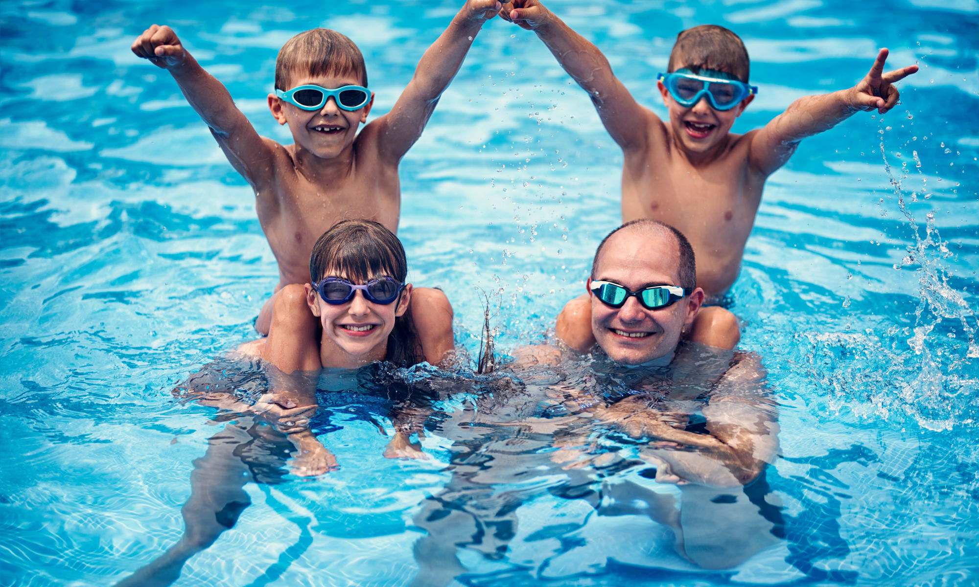 Family fun in the pool at Avilla Gateway in Phoenix, Arizona