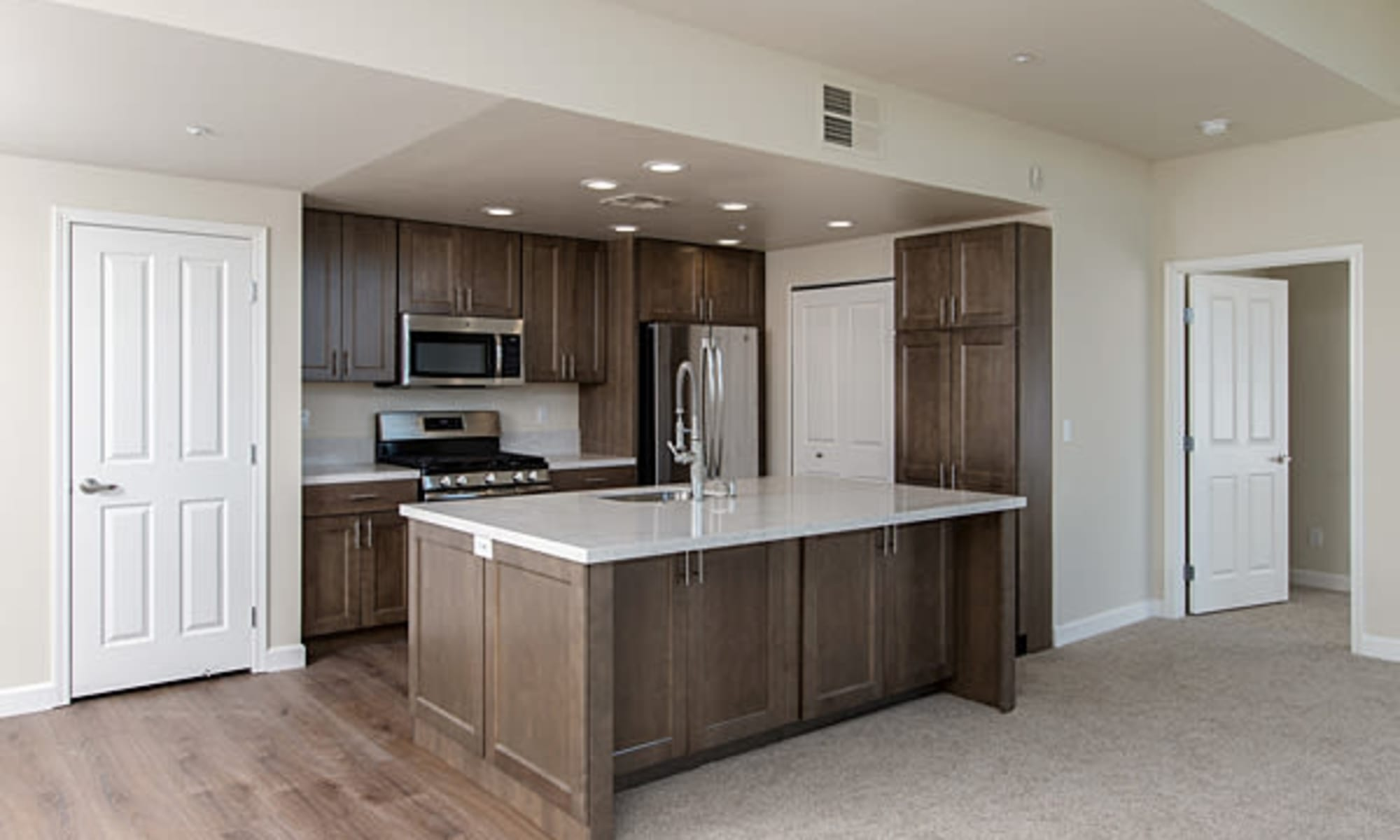 Luxury stainless steel appliances at The Boulders at Fountaingrove