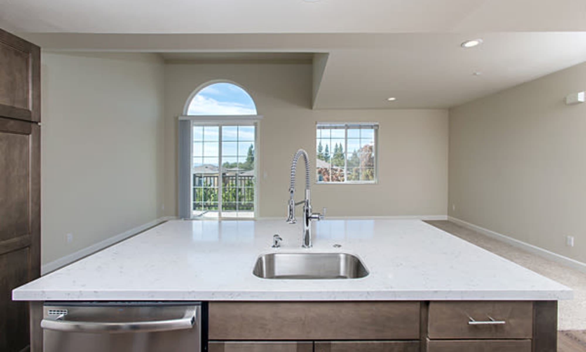 Luxury kitchens with an island at The Boulders at Fountaingrove