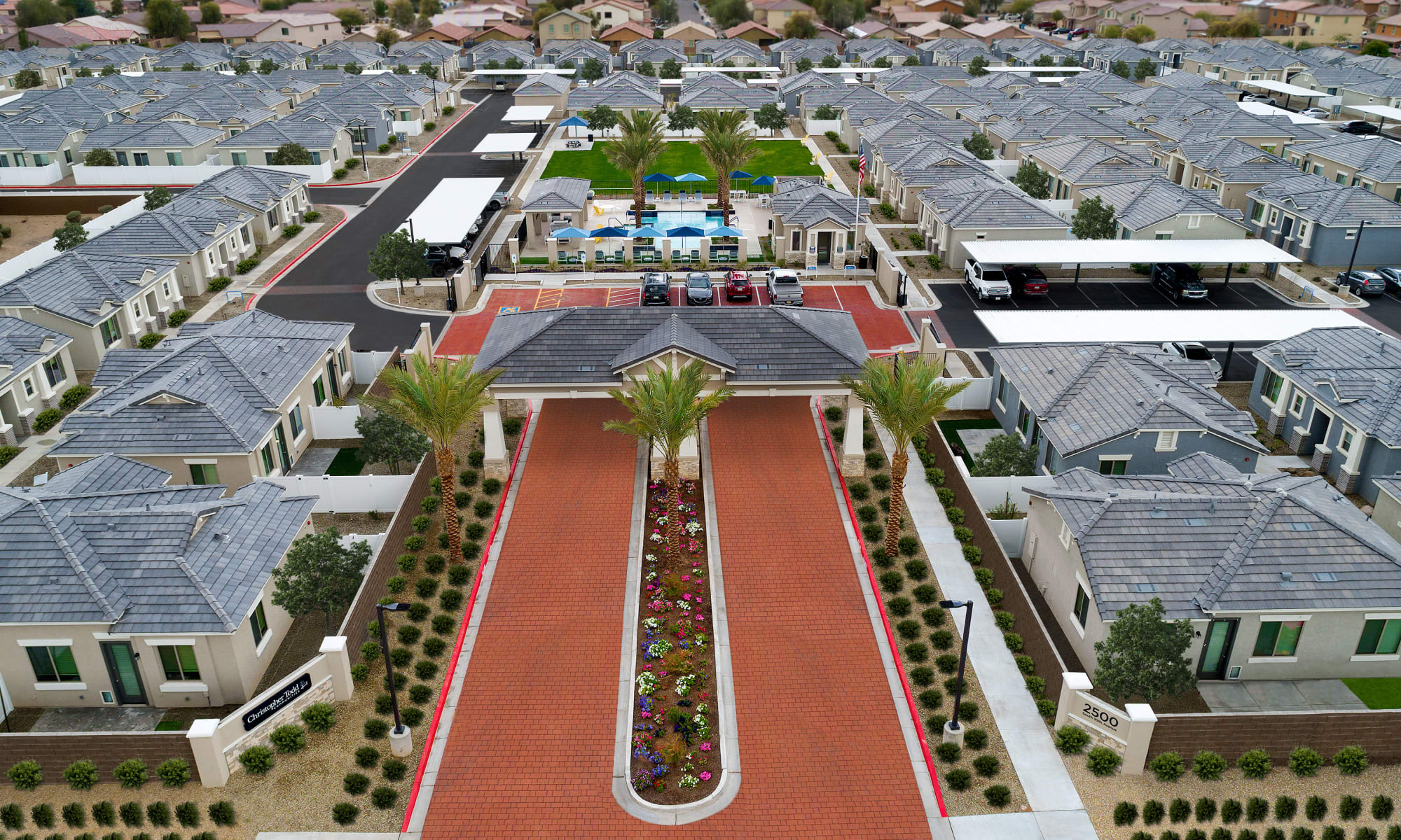 Community Entrance at Christopher Todd Communities On Mountain View in Surprise, Arizona