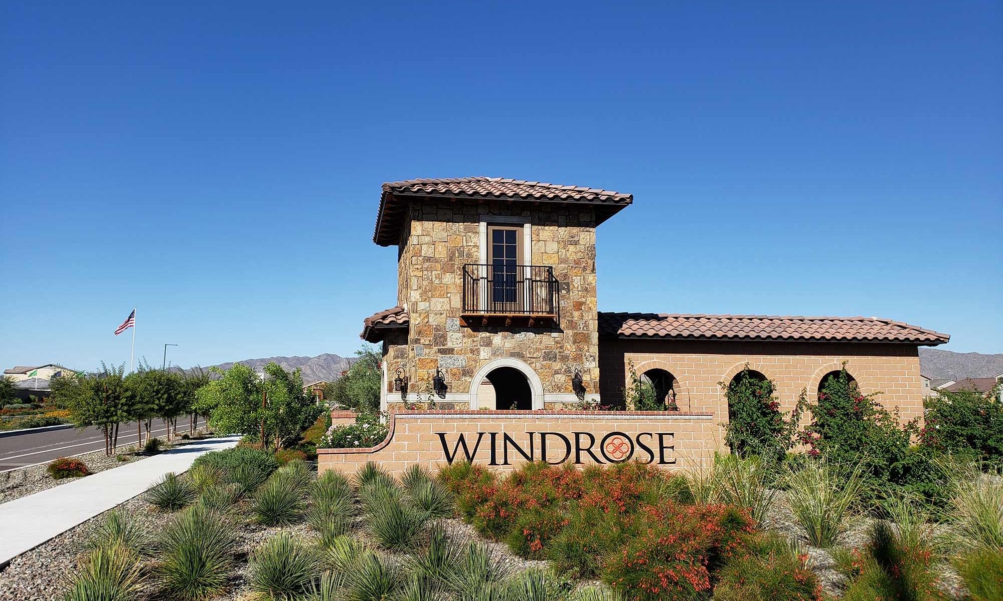 Community Entrance at Las Casas at Windrose in Litchfield Park, Arizona