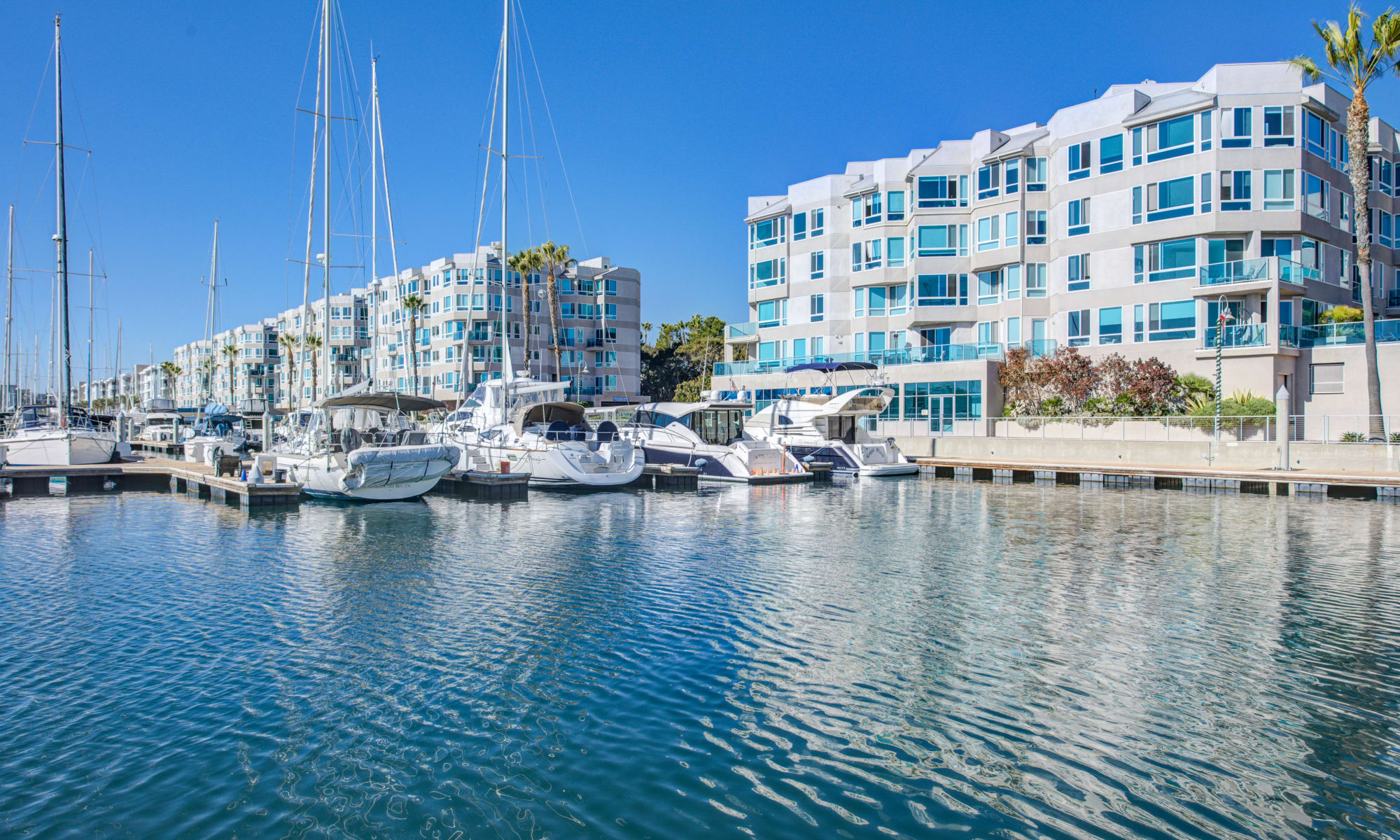 Water views at Esprit Marina del Rey in Marina Del Rey, California