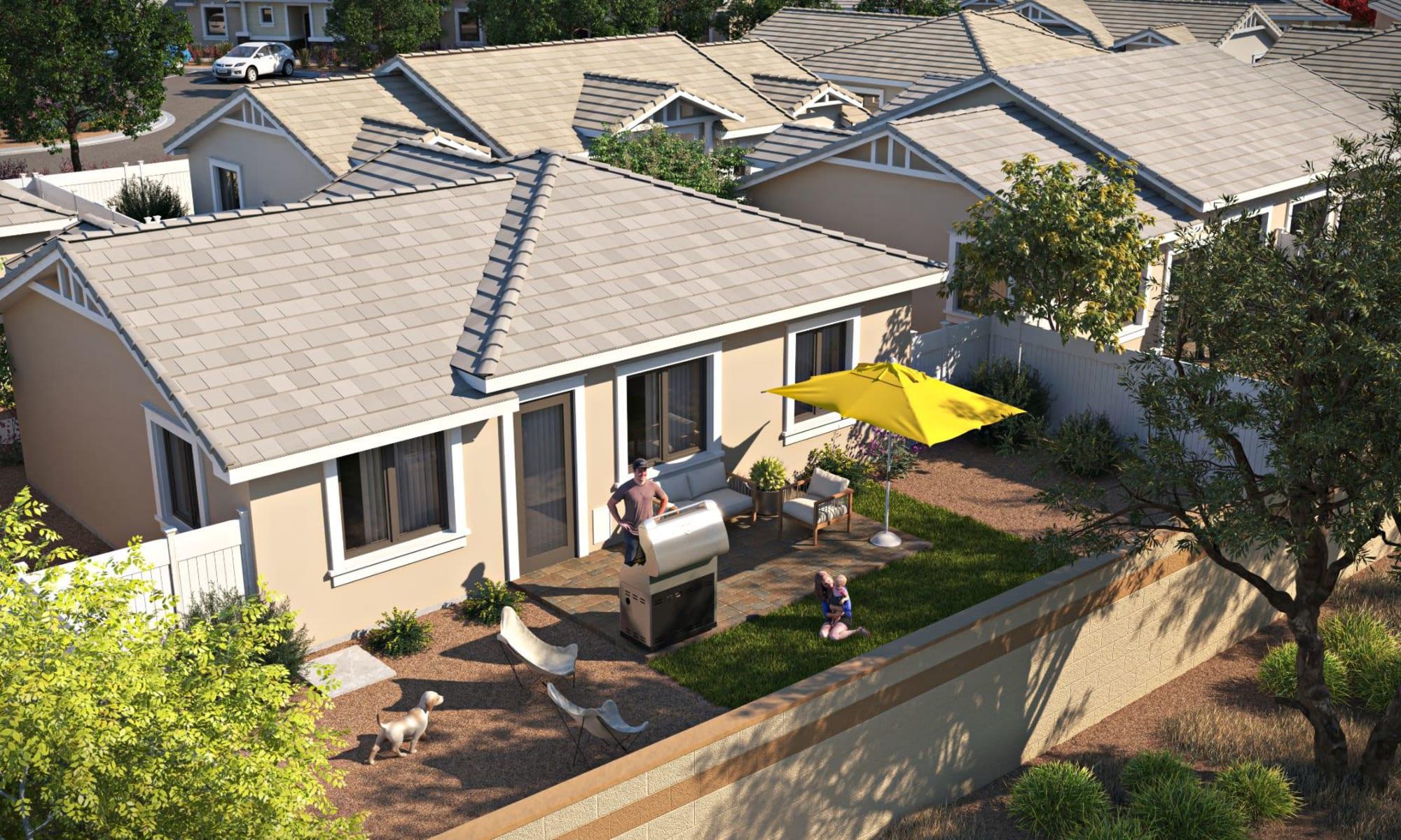 Backyard rendering of TerraLane at South Mountain in Phoenix, Arizona