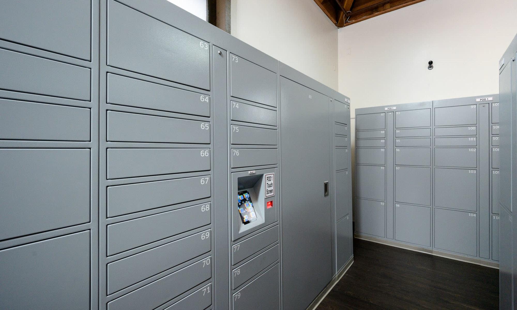 Package lockers at Mariners Village in Marina del Rey, California