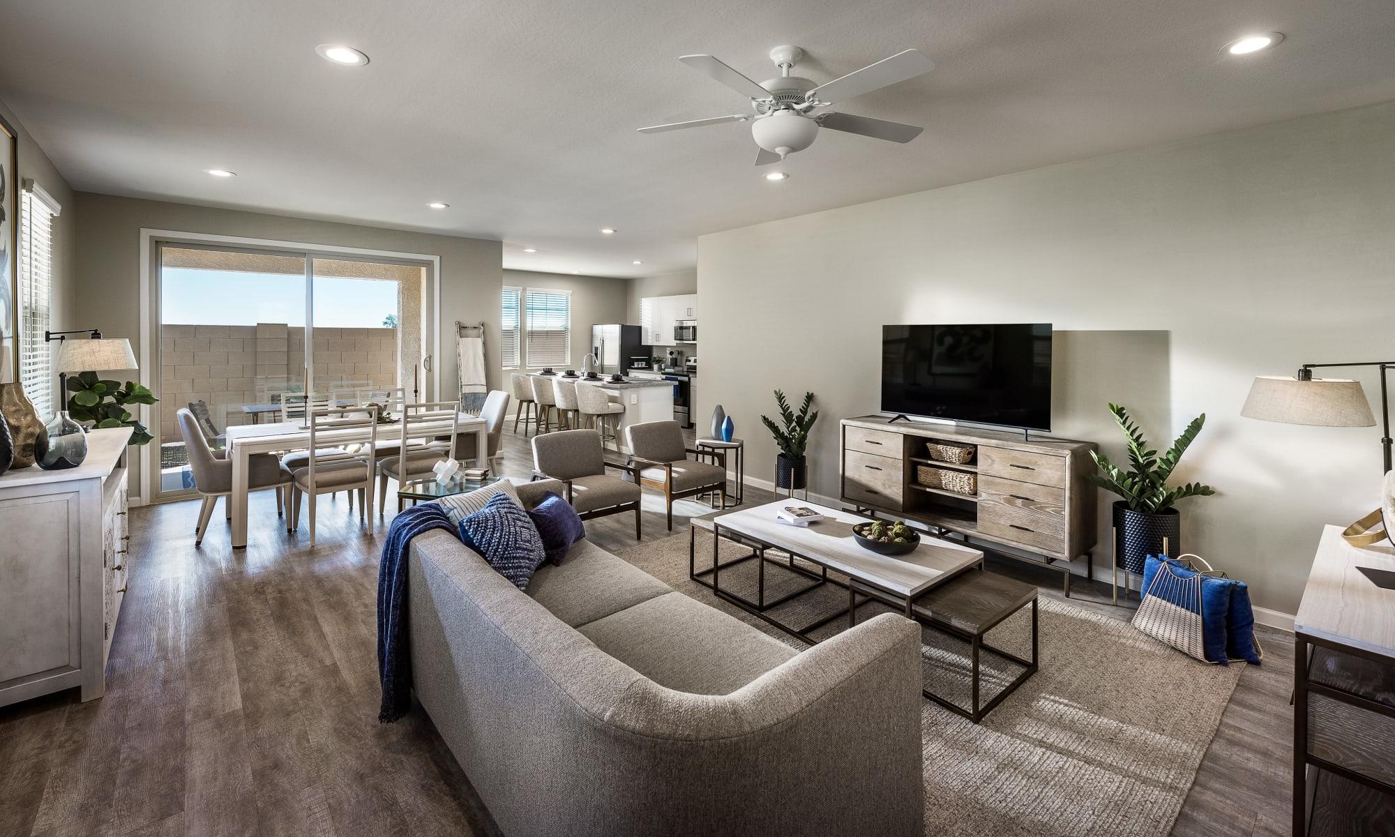Living Room at Las Casas at Windrose in Litchfield Park, Arizona