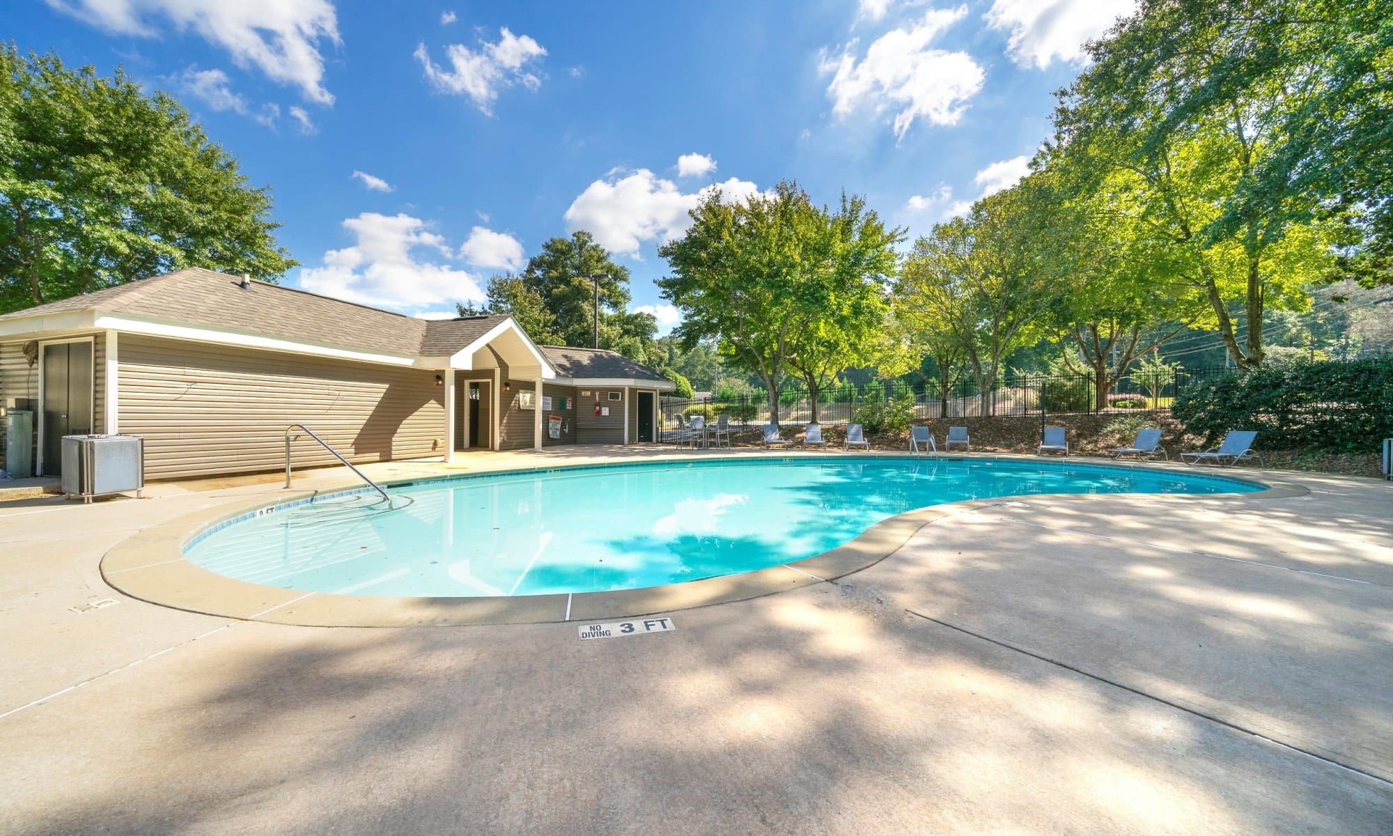 Relaxing pool at The Greens at Cascade Apartment Homes in Atlanta, GA