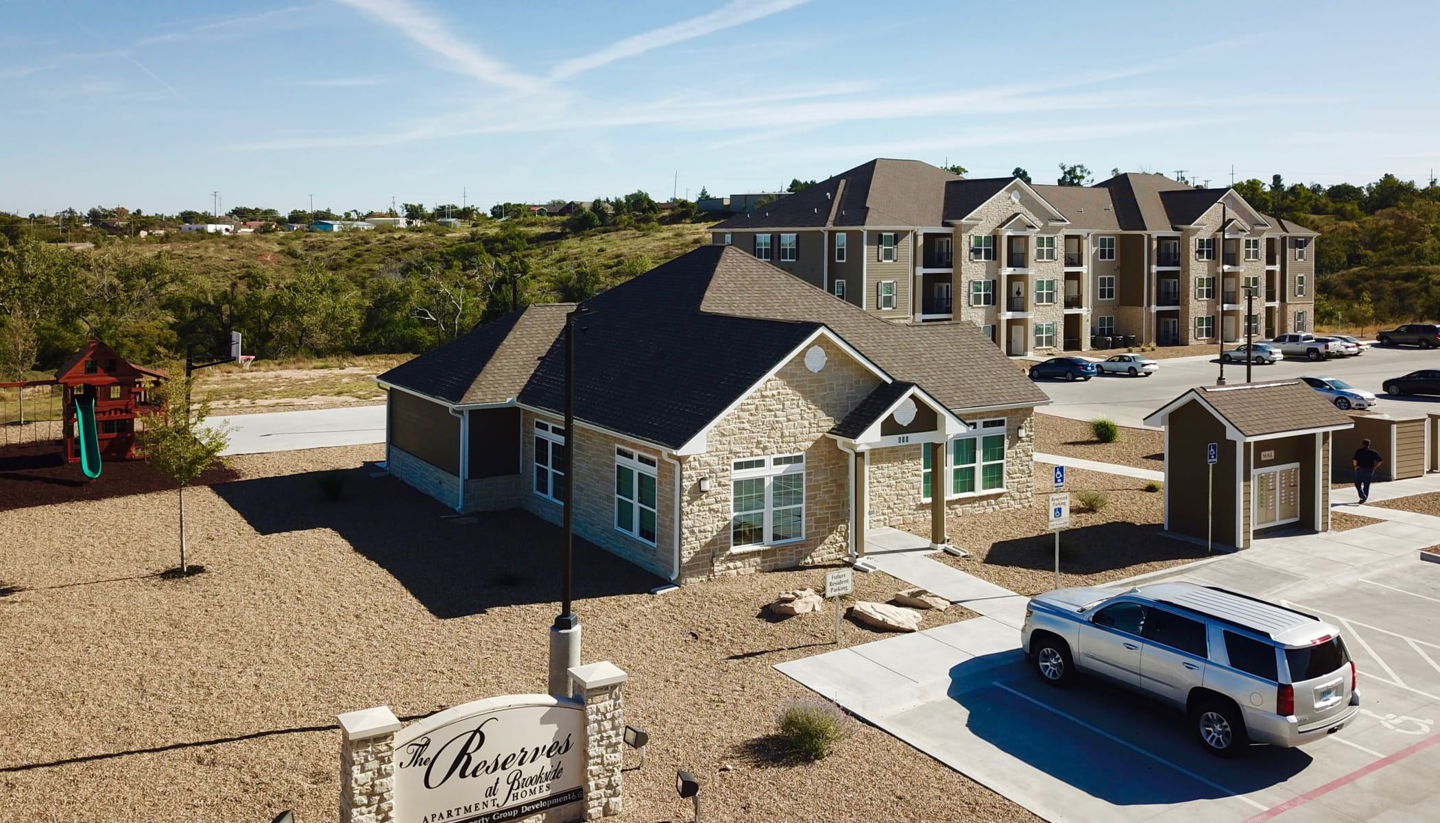 Aerial view of The Reserves at Brookside in Borger, Texas