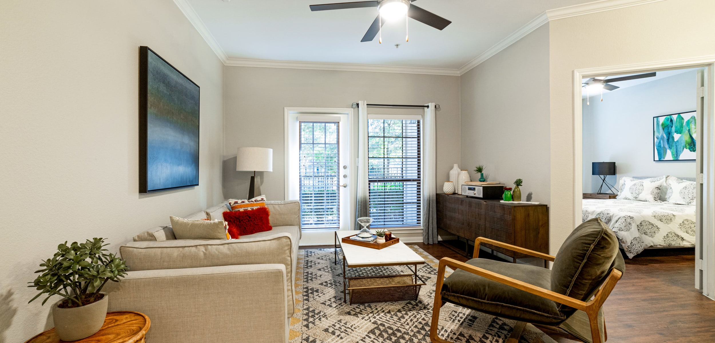 Living space at Marquis Parkside in Austin, Texas
