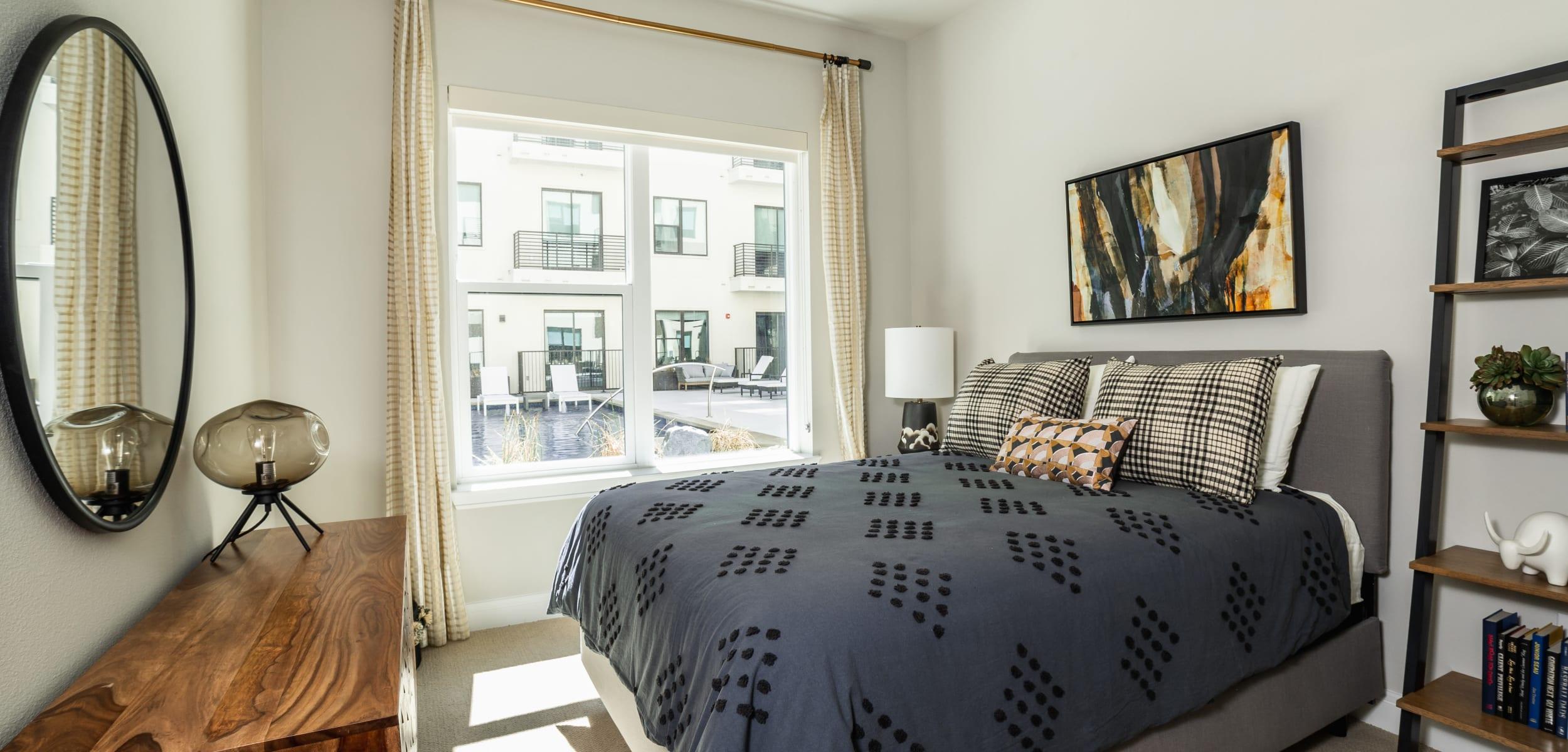 Cozy bedroom at The Clark in Austin, Texas