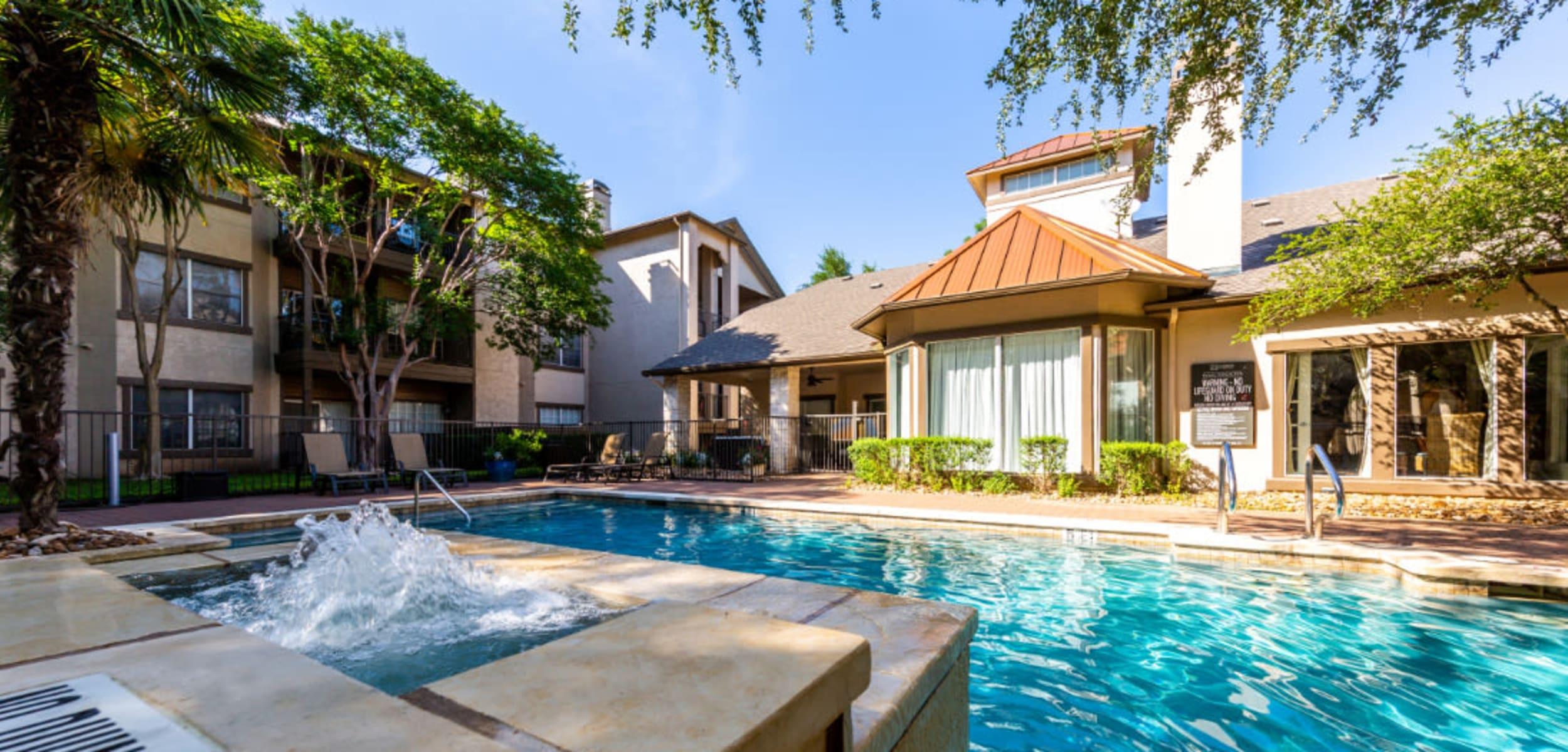 Sparkling pool at Marquis at Ladera Vista in Austin, Texas