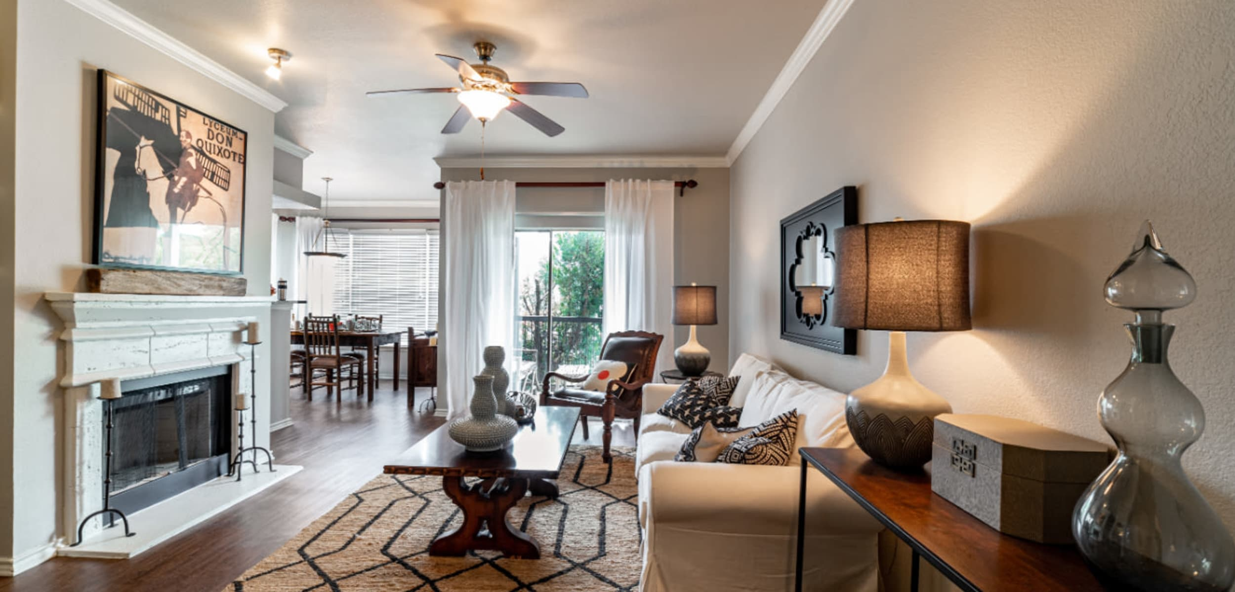 Living space at Marquis at Lantana in Flower Mound, Texas