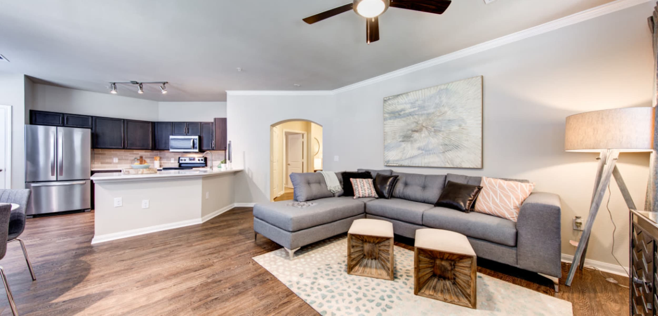 Living space at Marquis at Cinco Ranch in Katy, Texas