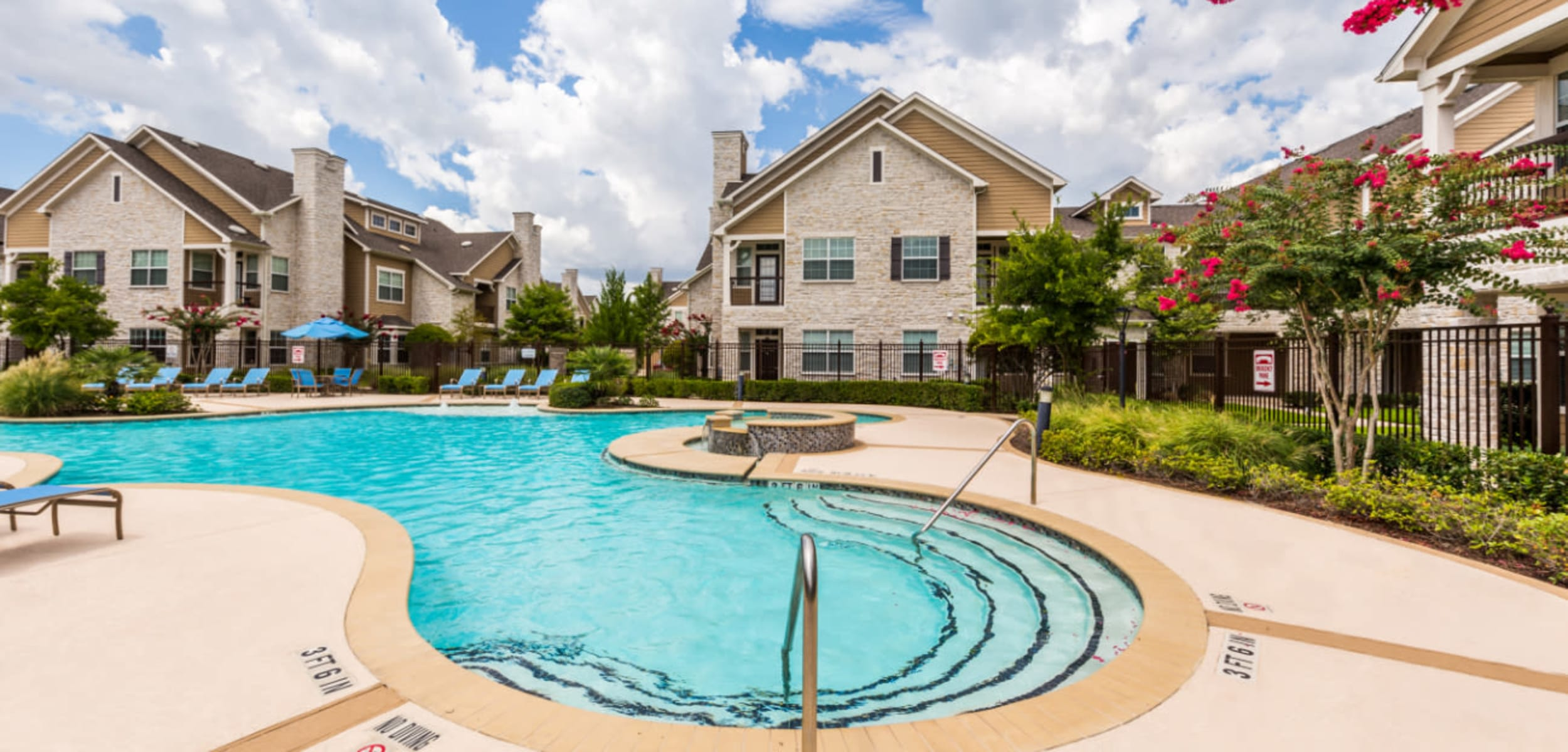 Sparkling pool at Marquis at Cinco Ranch in Katy, Texas