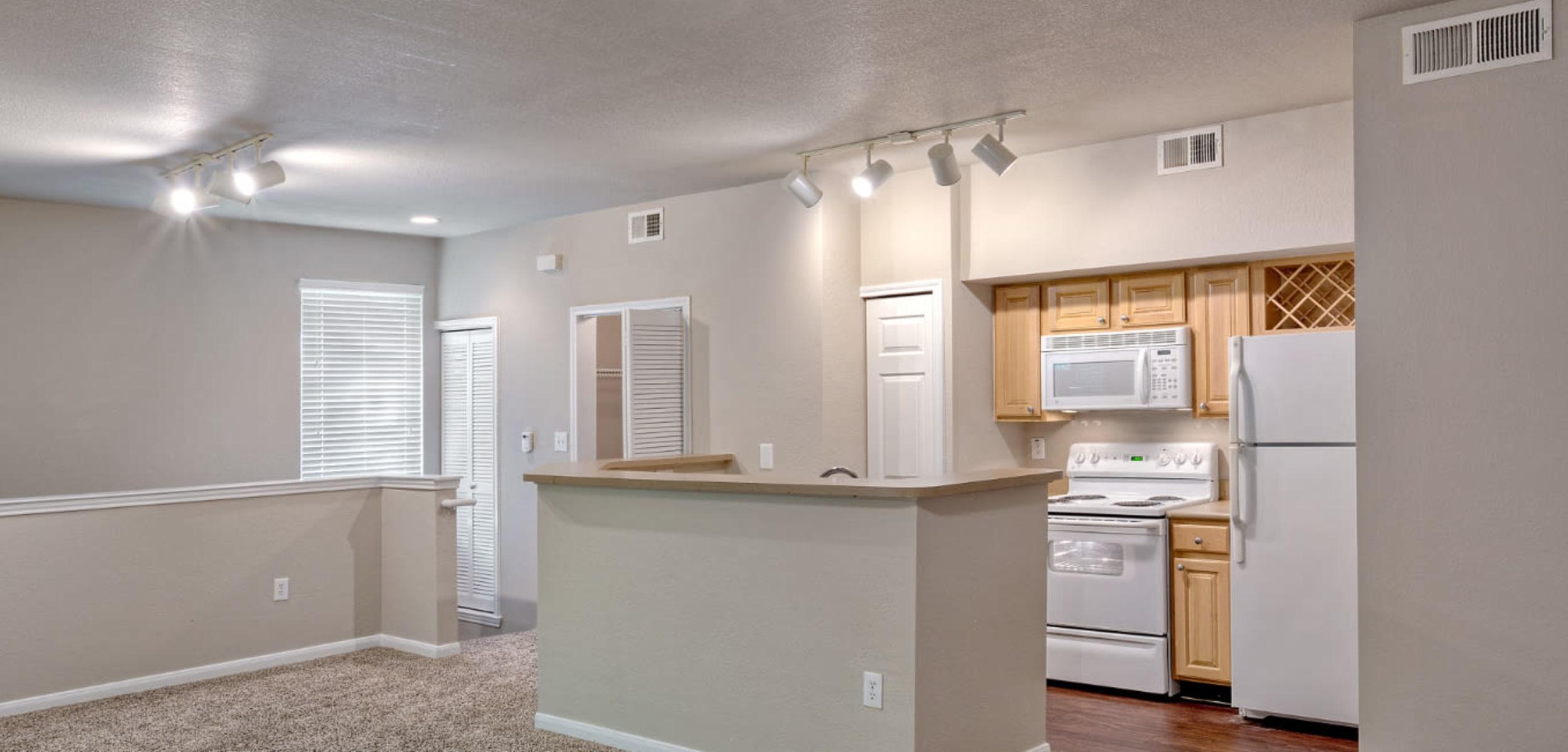Living space at Marquis Bandera in San Antonio, Texas