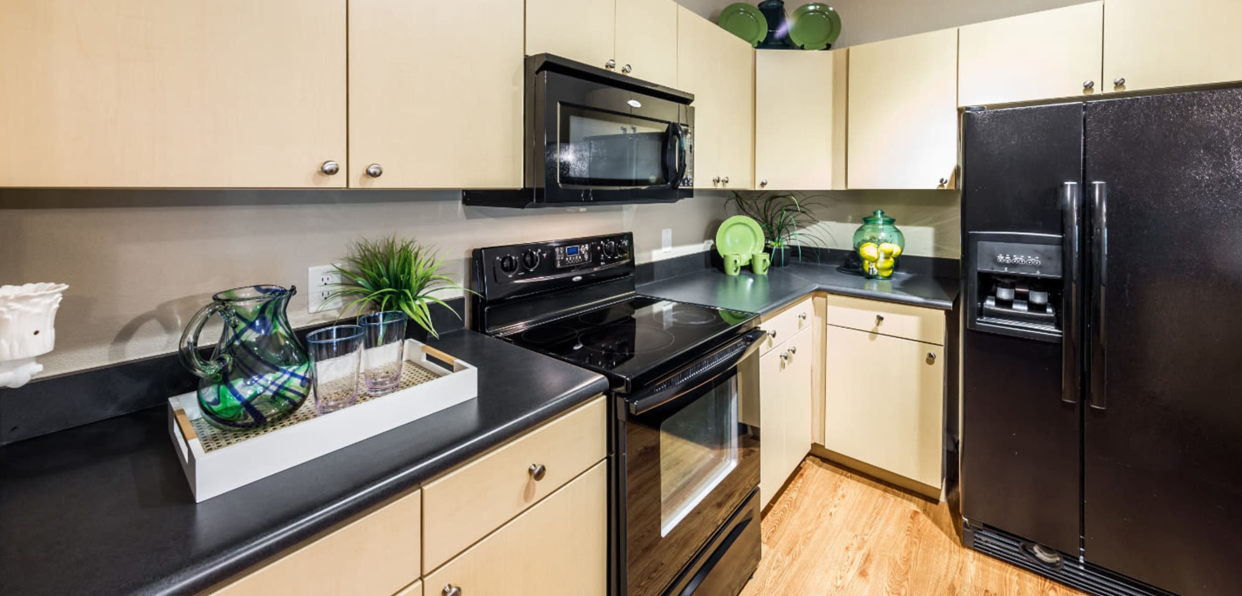 Modern, sleek kitchen at Marquis at Canyon Ridge in Austin, Texas
