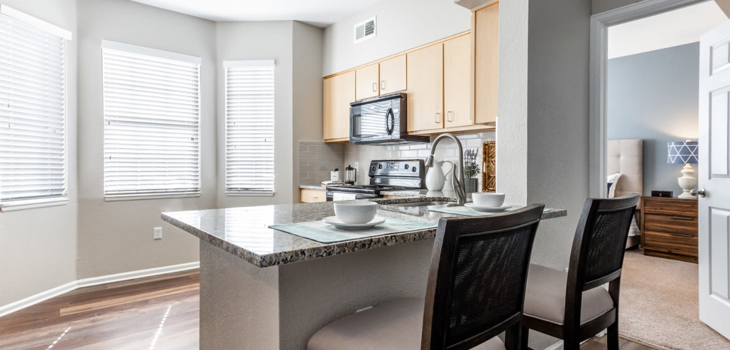 Modern, sleek kitchen at The Links at Plum Creek in Castle Rock, Colorado