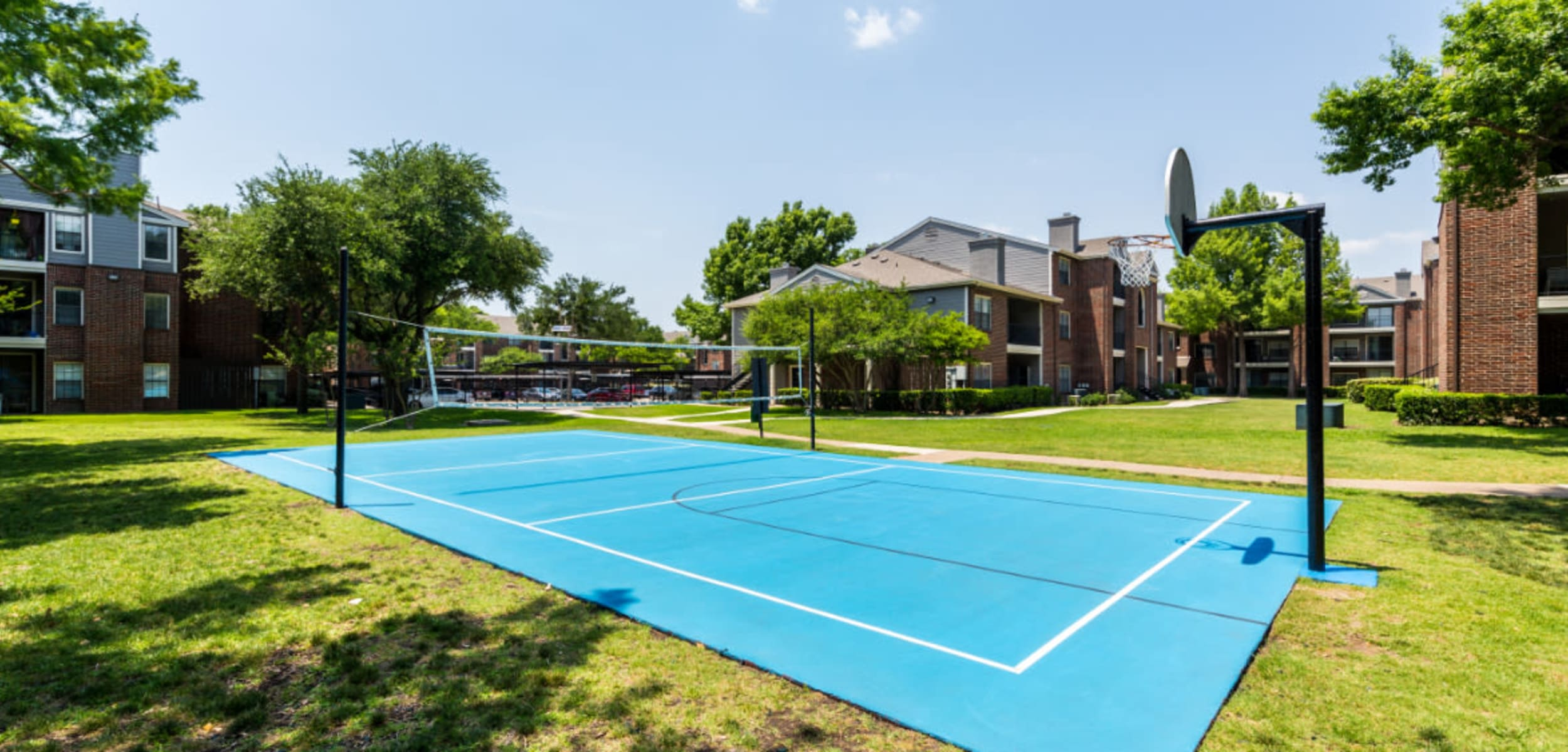 Basketball and Volleyball court at Marquis at Legacy in Plano, Texas