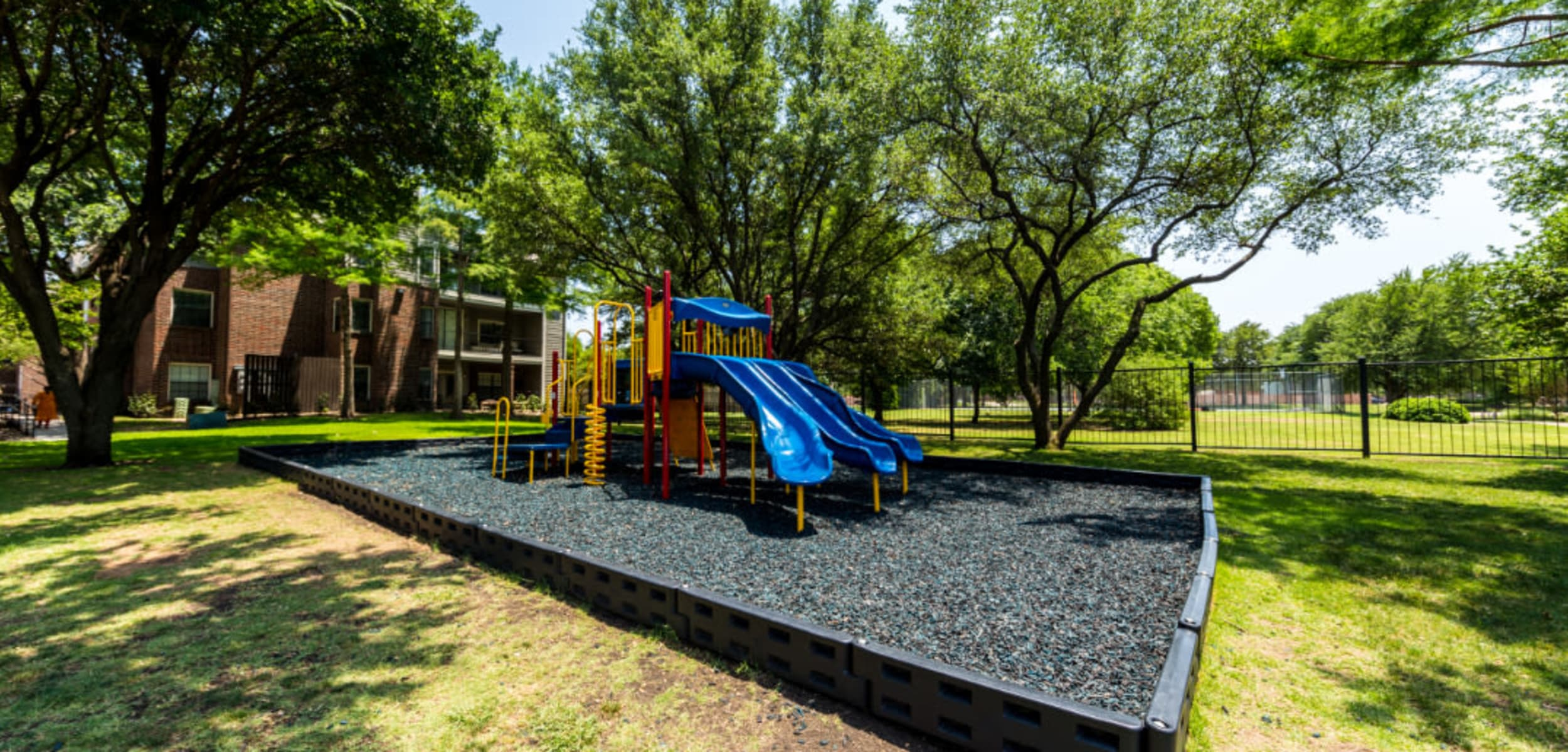 Child's playground at Marquis at Legacy in Plano Texas,