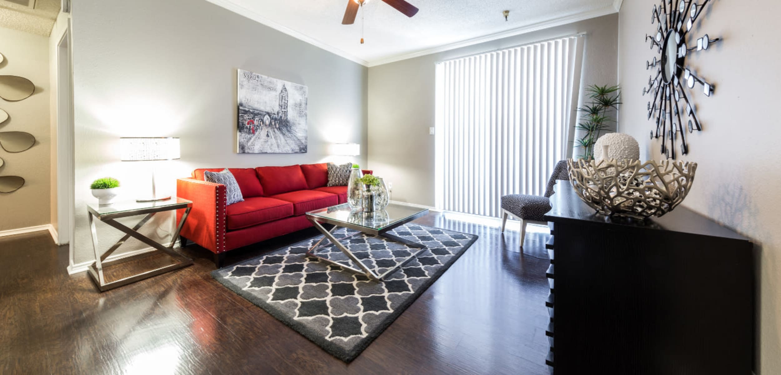 Living space at Marquis at Legacy in Plano, Texas