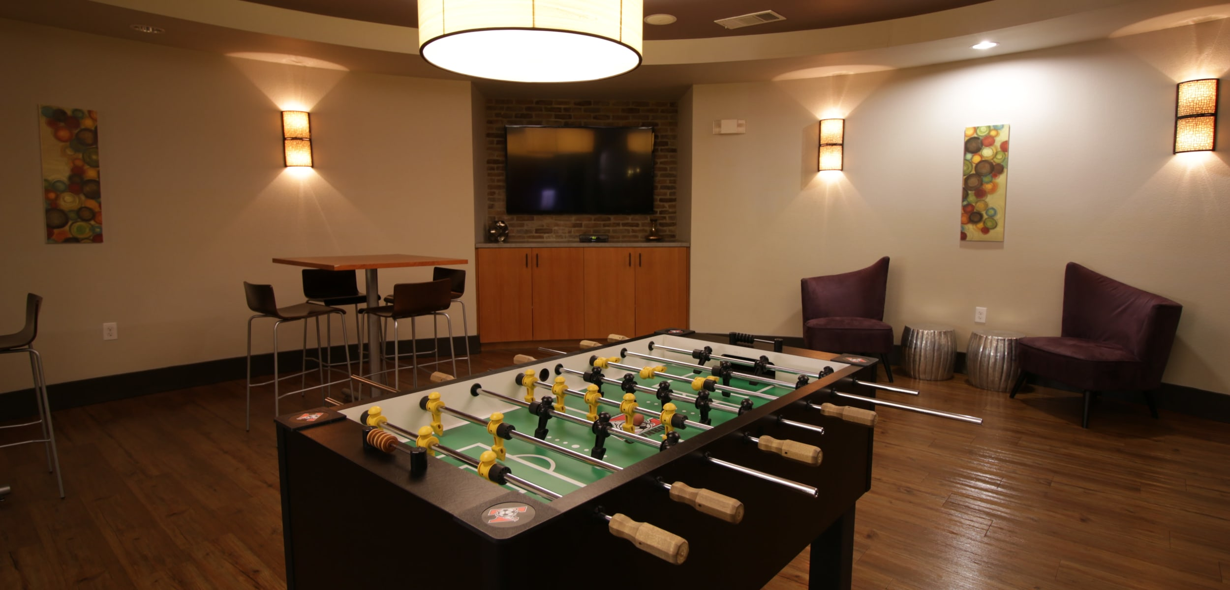Regents West at 26th's game room in Austin, Texas
