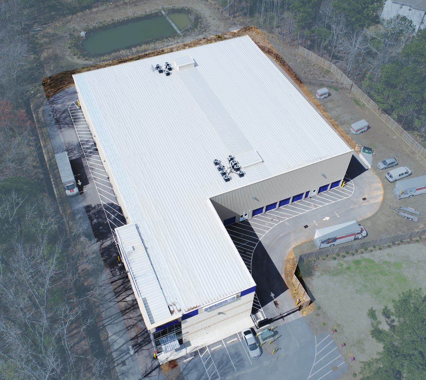 A view of the top of StoreSmart Self-Storage in Raleigh, North Carolina