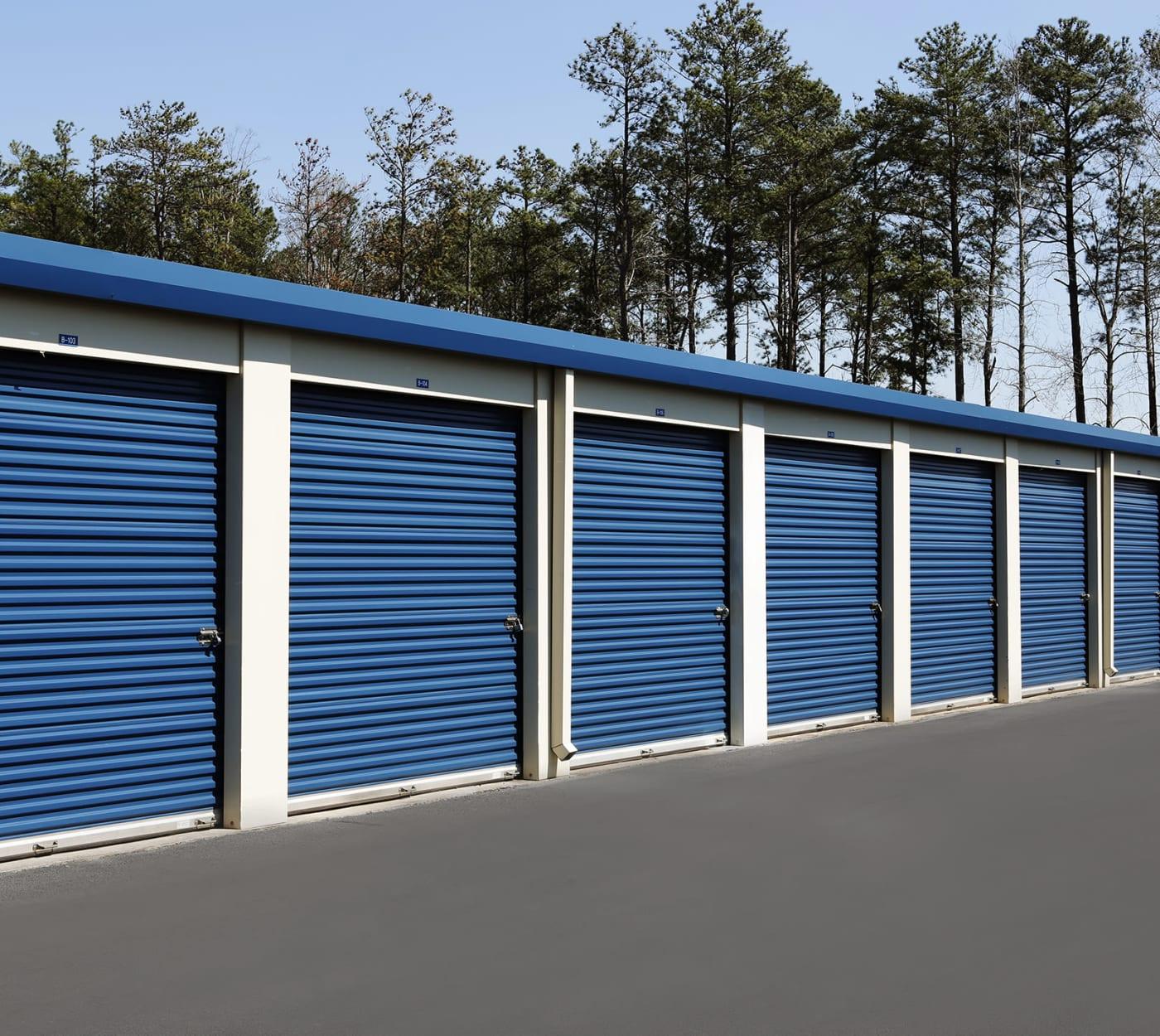 Ground-floor unit at Midgard Self Storage in Midland, North Carolina