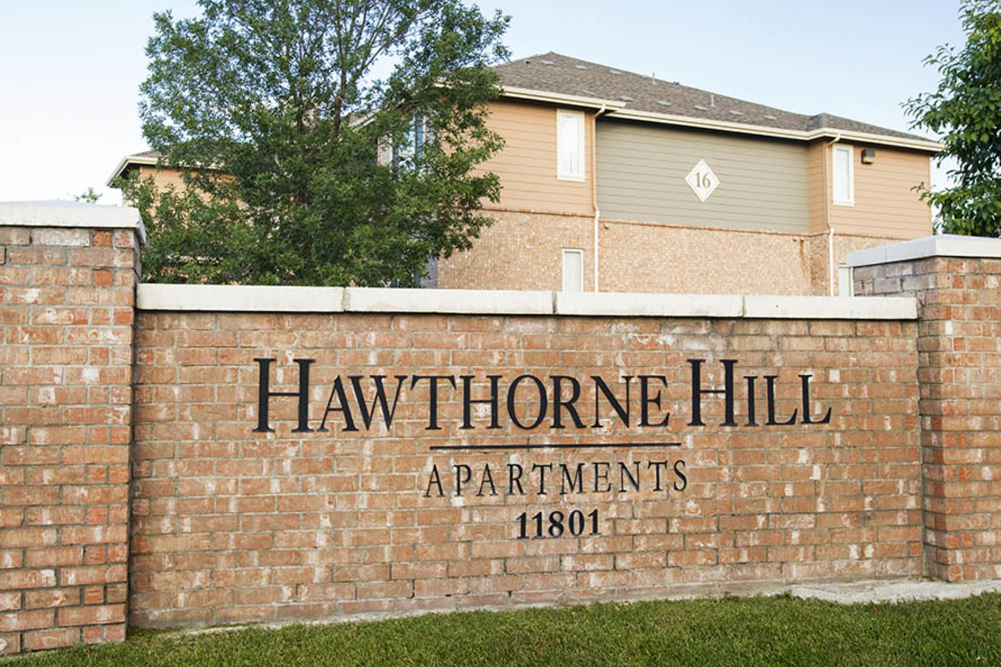 monument sign At Hawthorne Hill Apartments