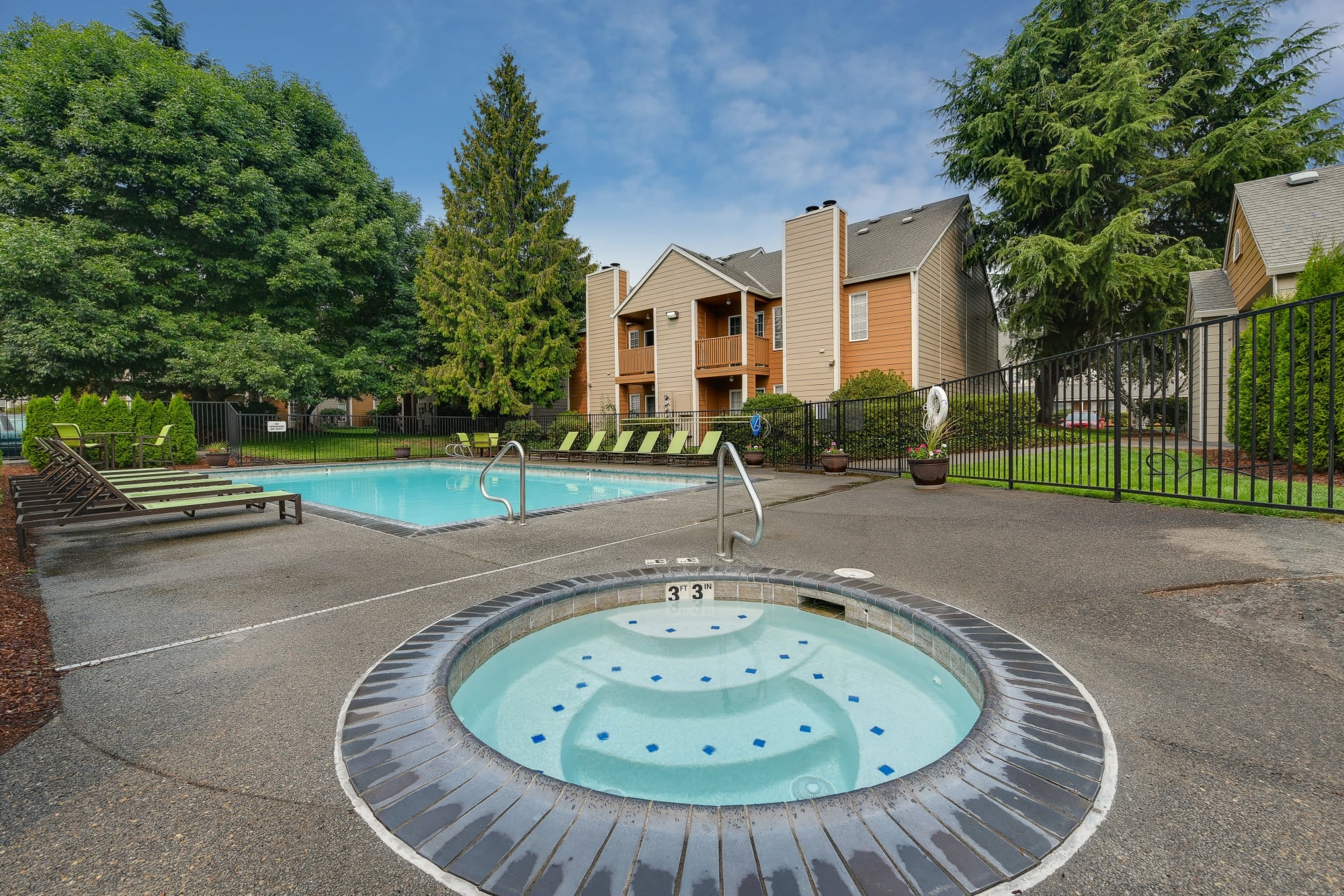 Spa/Pool Living at Carriage House Apartments includes a pool