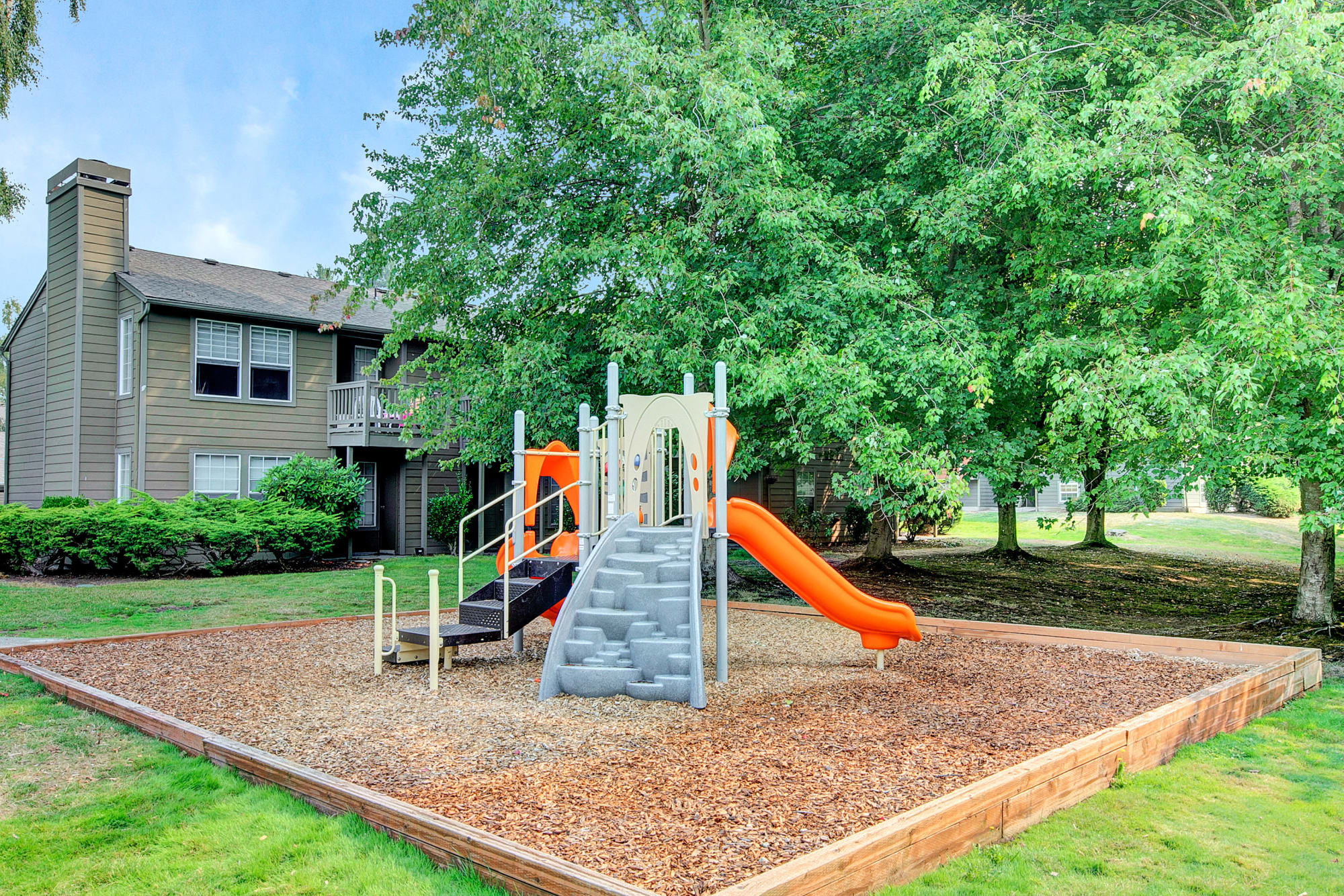 The fun playground at Waters Edge Apartments in Kent, Washington