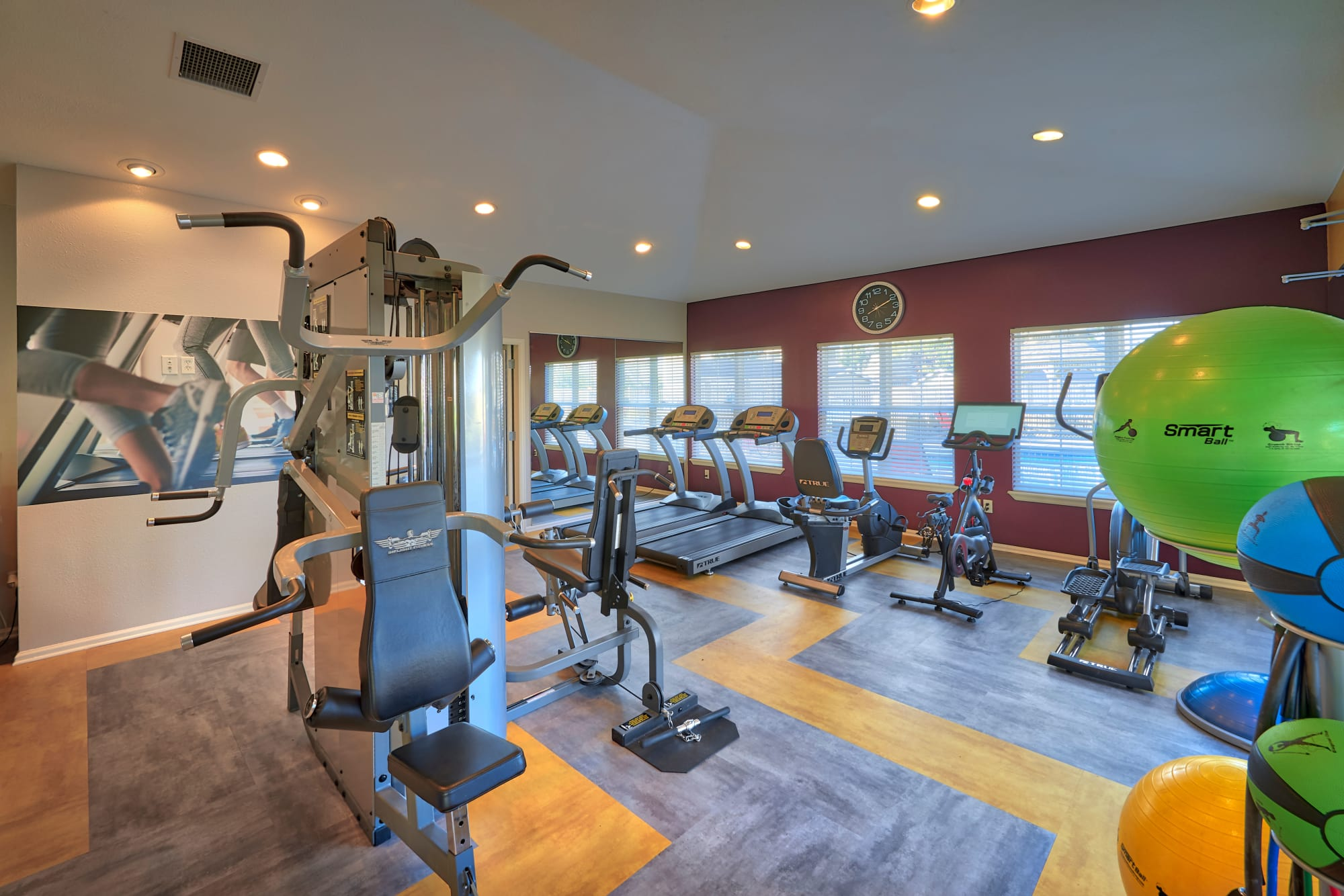 Fitness center at Westridge Apartments in Aurora, Colorado