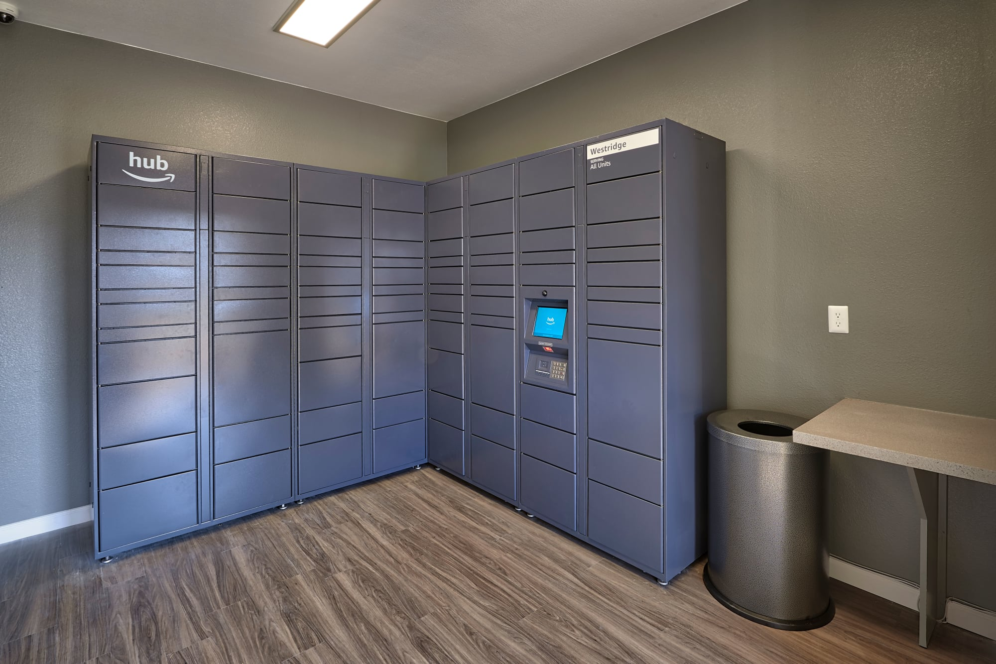 24-hour package lockers with Amazon HUB at Westridge Apartments in Aurora, Colorado