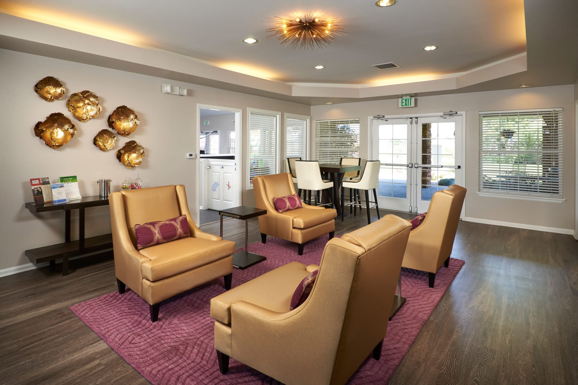 Clubhouse Common Area at Westridge Apartments in Aurora, CO