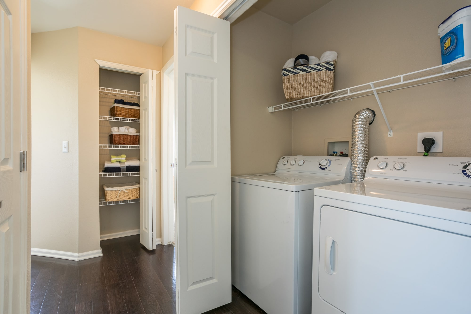 Laundry room at Westridge Apartments in Aurora, Colorado