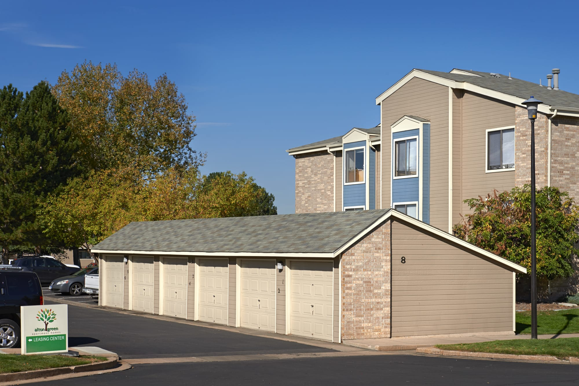 Garages at Alton Green Apartments in Denver, CO